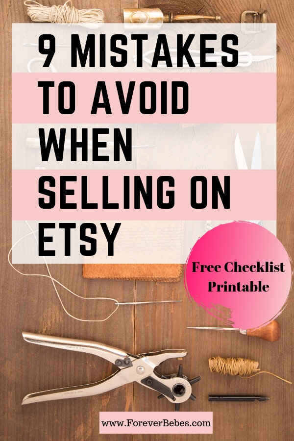 Forever Bebes | Mistakes when selling on Etsy