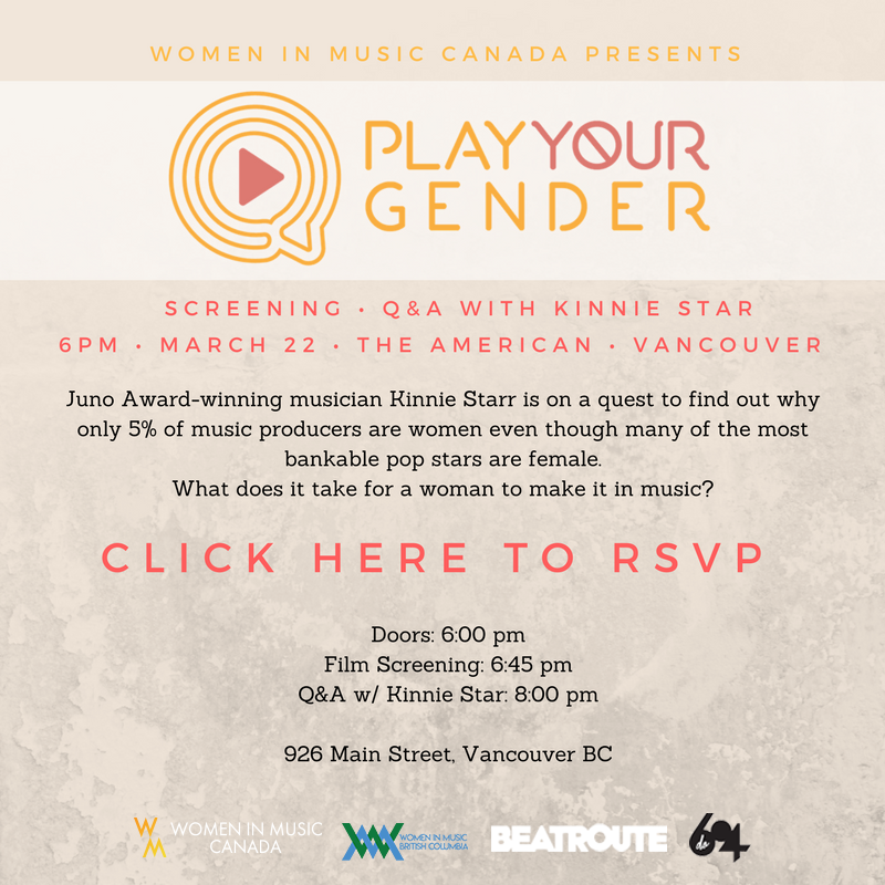 WIM-C + APORIA Records presents PLAY YOUR GENDER and Kinnie Starr Q + A