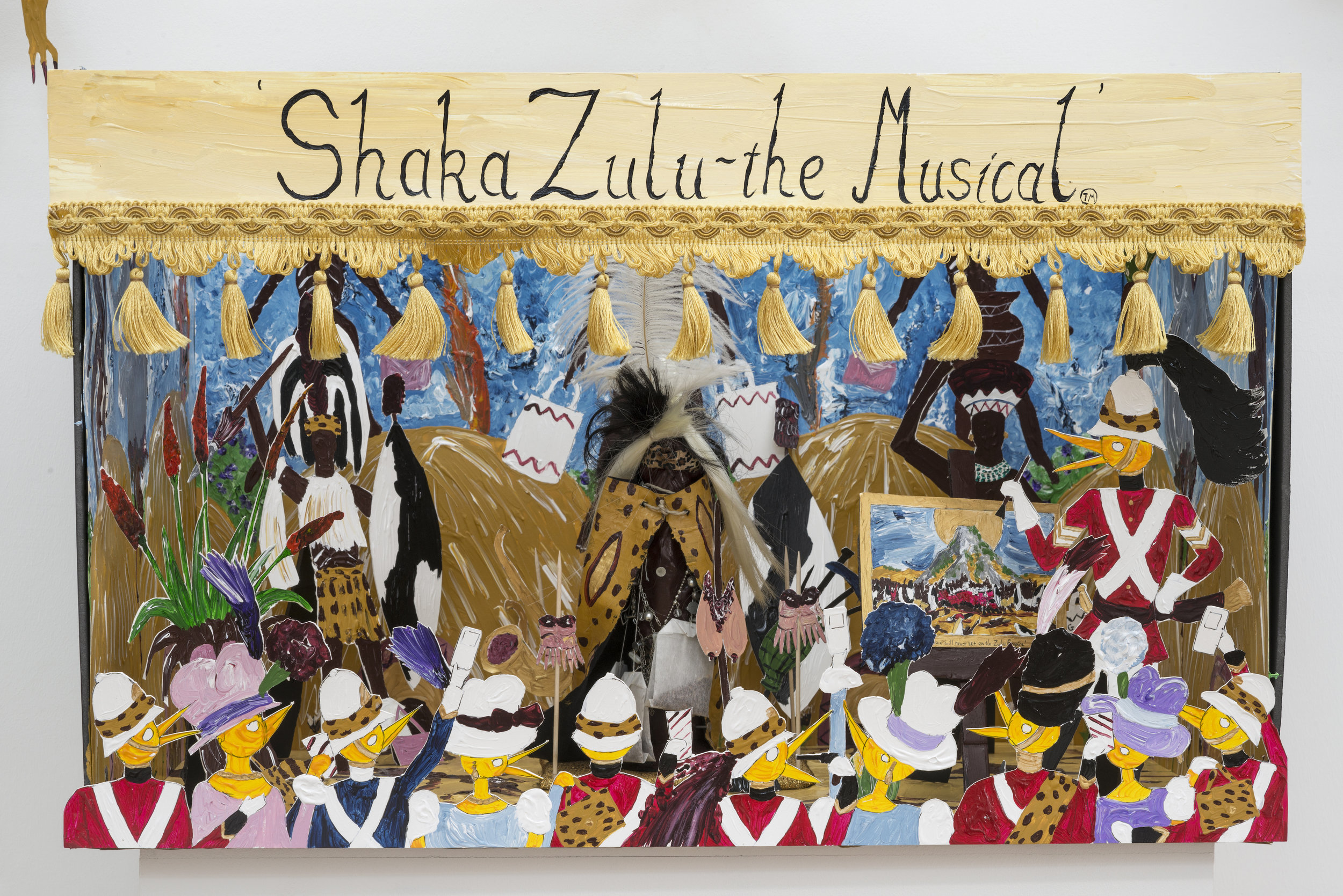 Andrew Gilbert,  Shaka Zulu - the Musical (model) , 2016, mixed media, 86 x 74 x 55 cm. Copyright: © 2017 the artist. Courtesy of SPERLING, Munich.