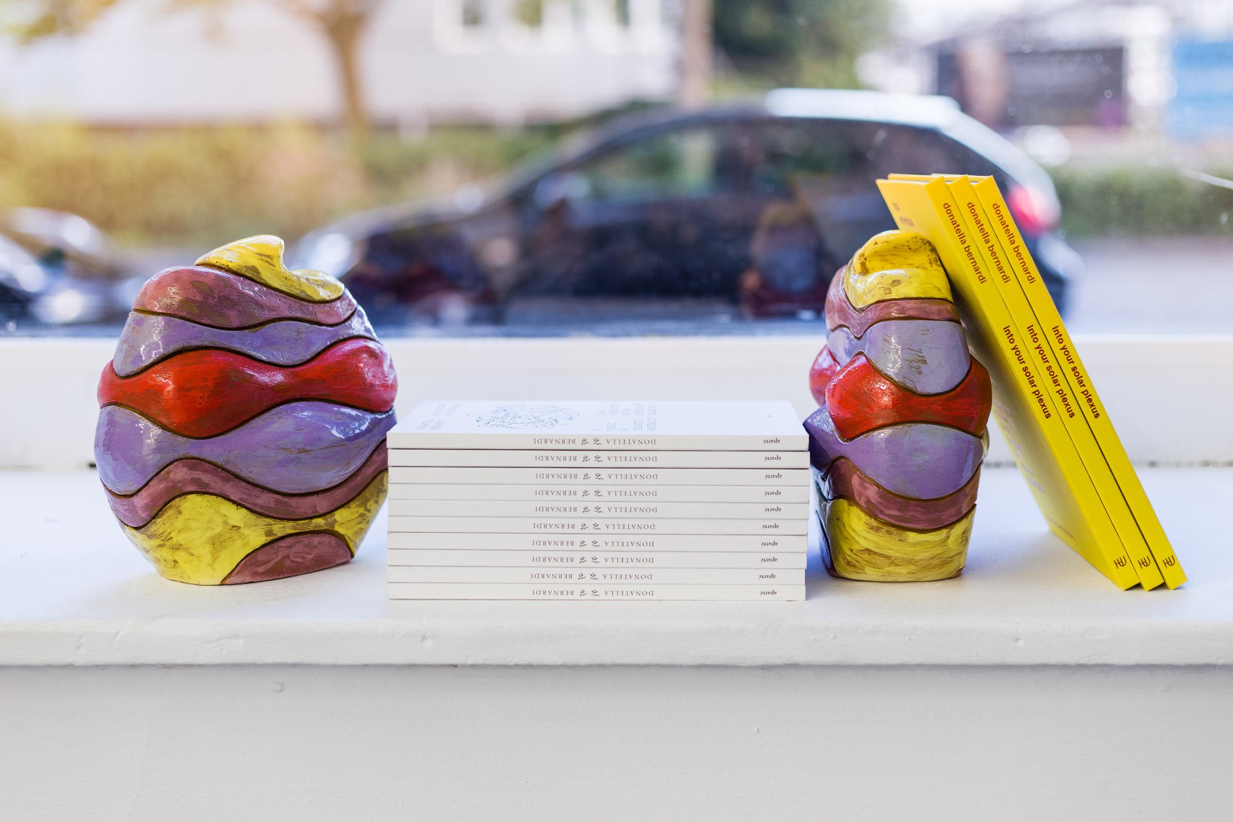 Donatella Bernardi,  Almost Ninja Turtles I-IV,  2017, artist books, clay with engobe and transparent glaze, 20 x 18 x 14 cm (each) Photo: Kilian Bannwart