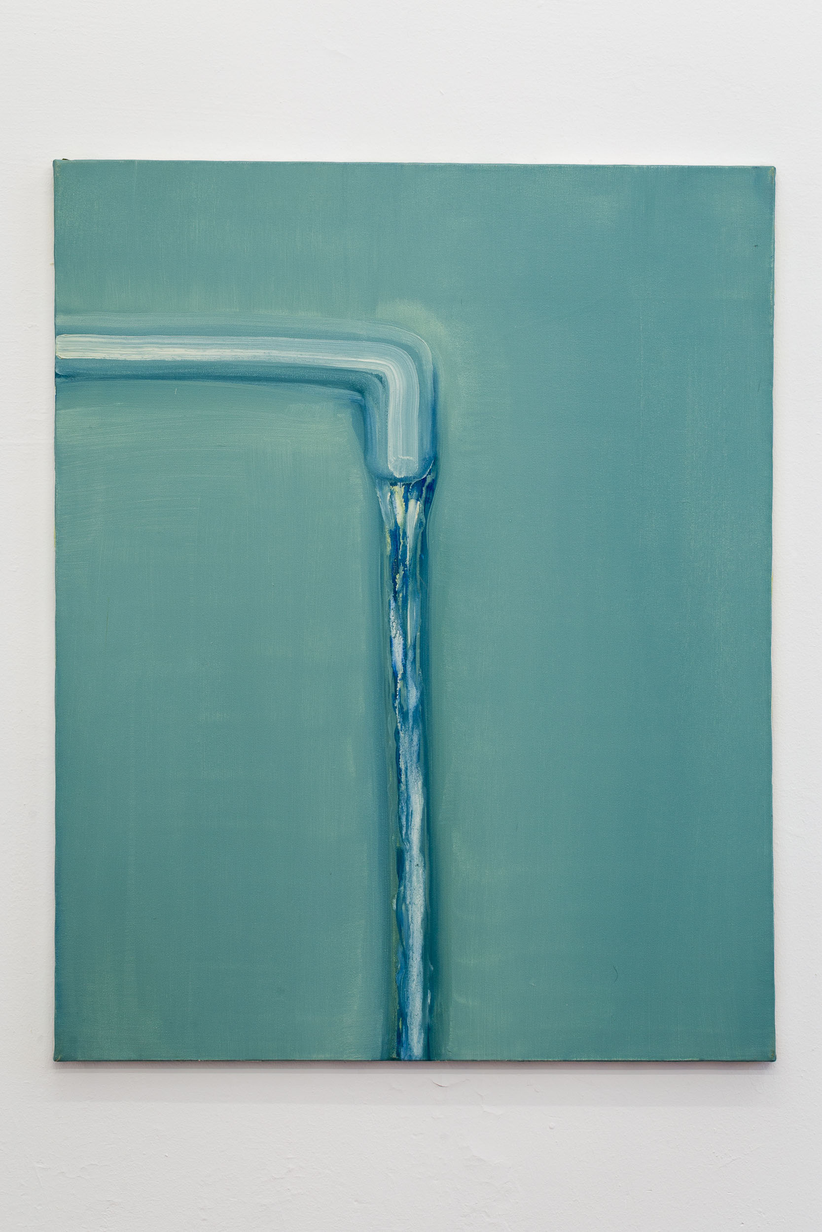 Hans Witschi,  Untitled (Water) , 2000, oil on primed cotton, 76 x 61 cm  Photo: Kilian Bannwart