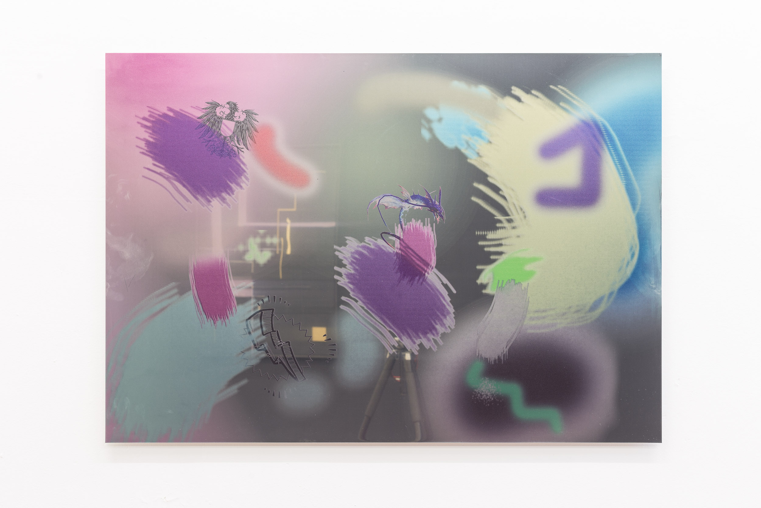 Matyas Chochola,    MIAMI NIGHTS VOL.2   ,   2016  ,   Print on stainless steel, 100 × 50 cm   Photo: Kilian Bannwart
