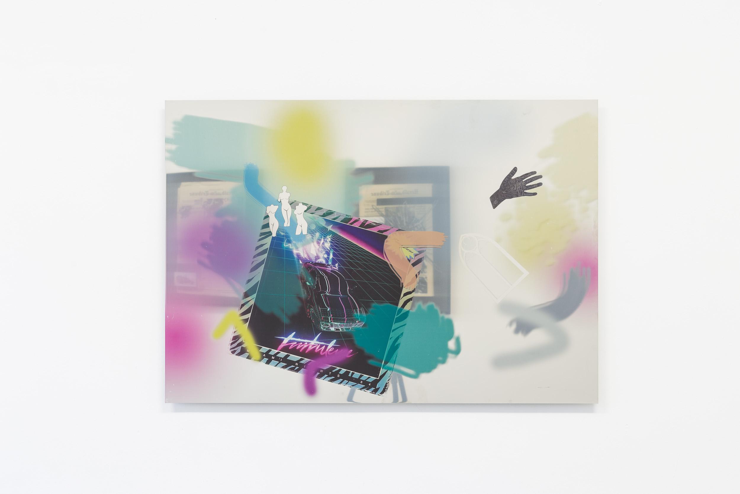 Matyas Chochola,    MIAMI NIGHTS VOL.2   ,   2016  ,   Print on stainless steel  ,   100 × 80 cm Photo: Kilian Bannwart