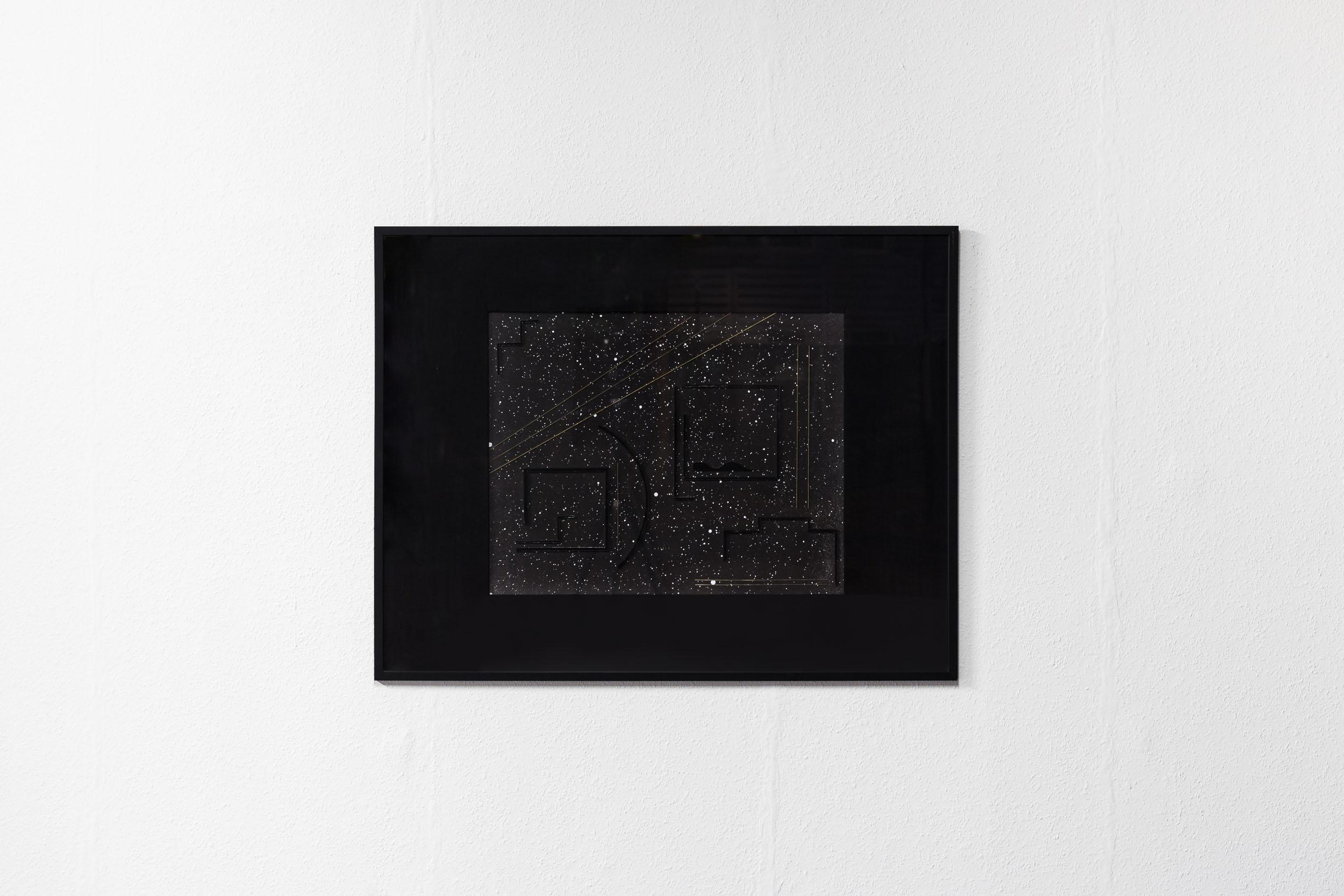 Kirstine Roepstorff,  Spherical Music 5 , 2012, Collage: cardboard, brass, 31 x 71 cm   Photo: Kilian Bannwart