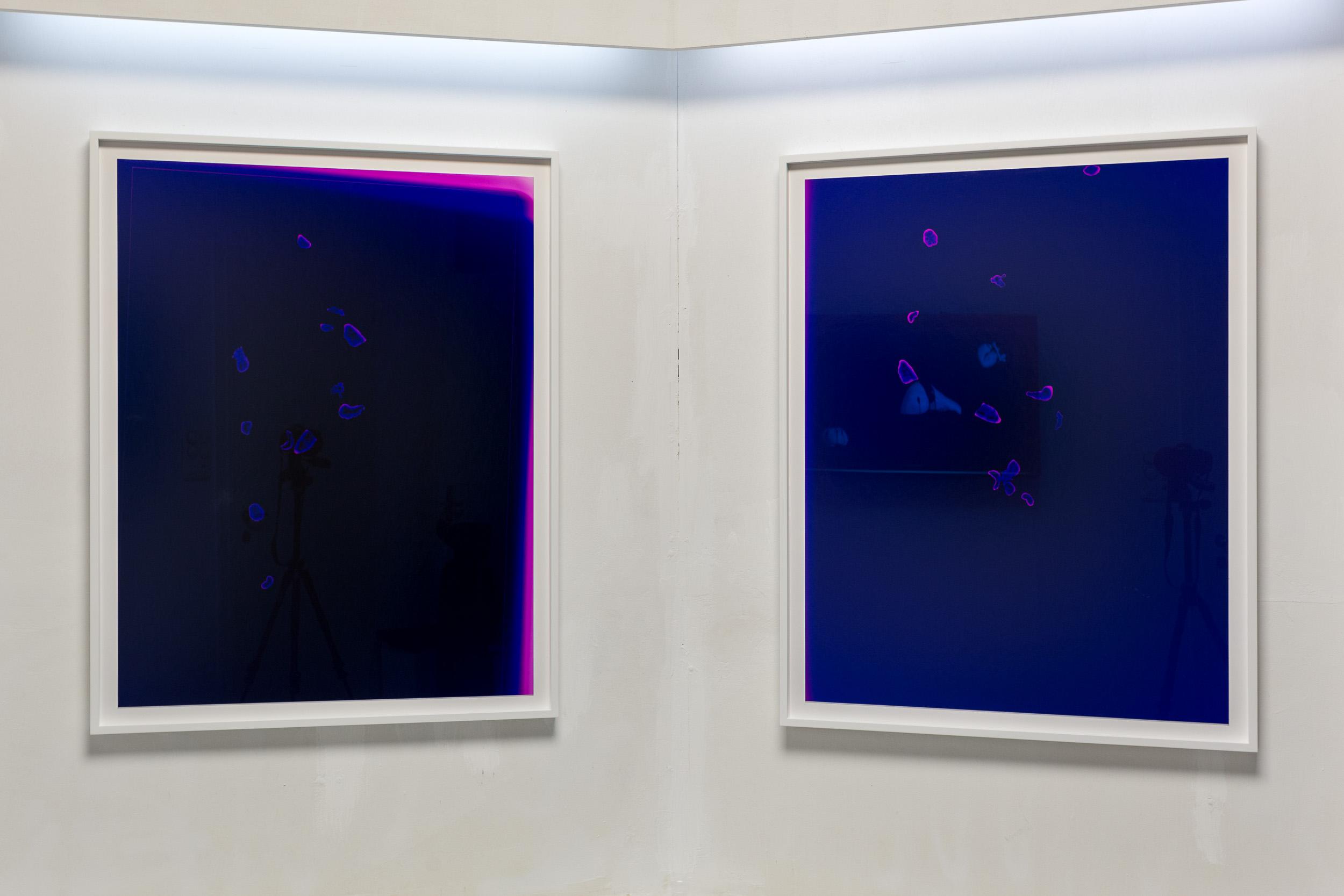 Mélodie Mousset,  Constellations , 2016, Photogram, 85 x 109cm each  Photo: Kilian Bannwart