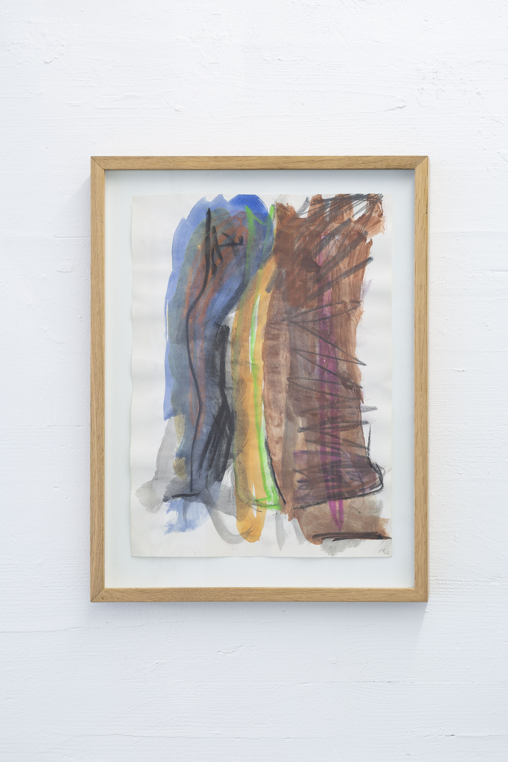 Per Kirkeby,  Untitled , 1986, Gouache on paper, 41.5 x 29.7 cm   Photo: Kilian Bannwart