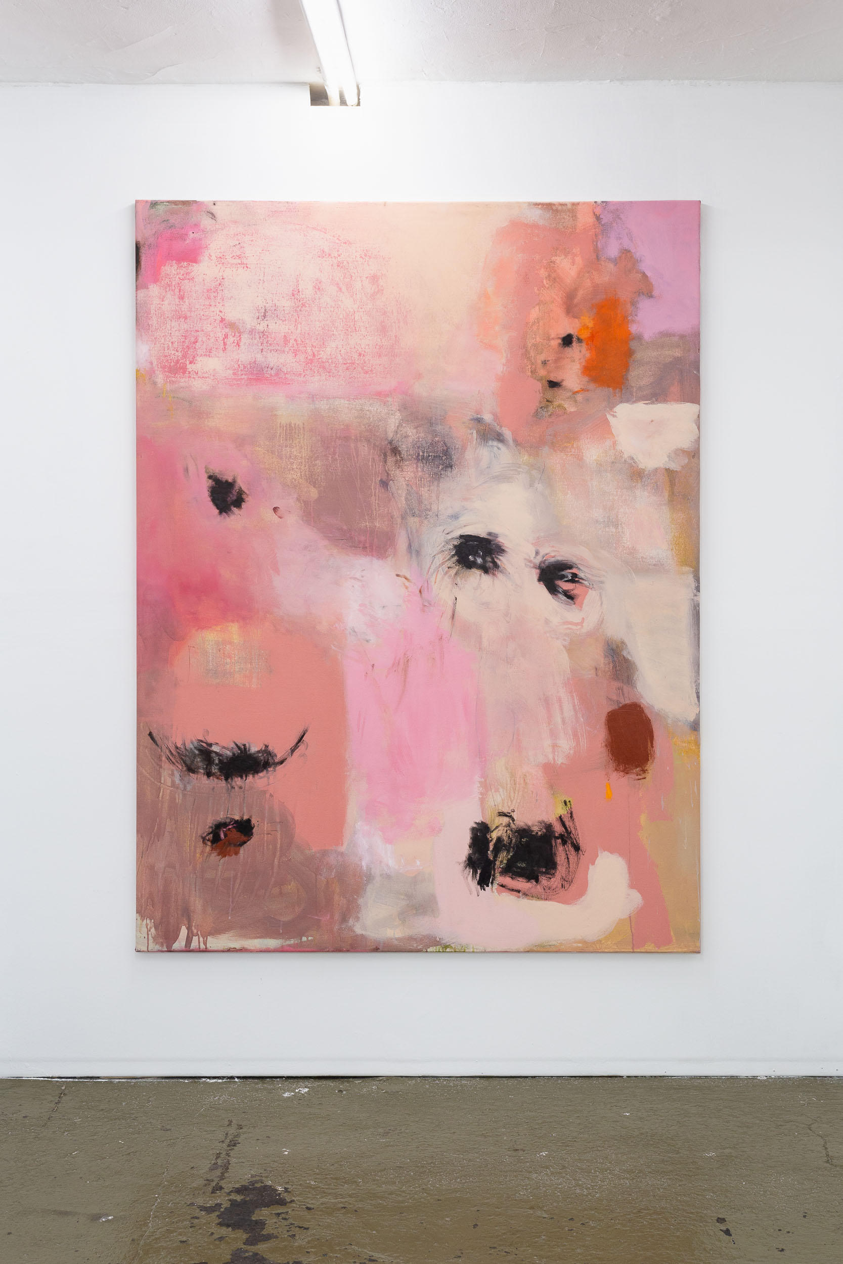 Megan Rooney,  How It Is,  2019, acrylic, pastel and oil on canvas, 150 x 200 cm Photo: Kilian Bannwart