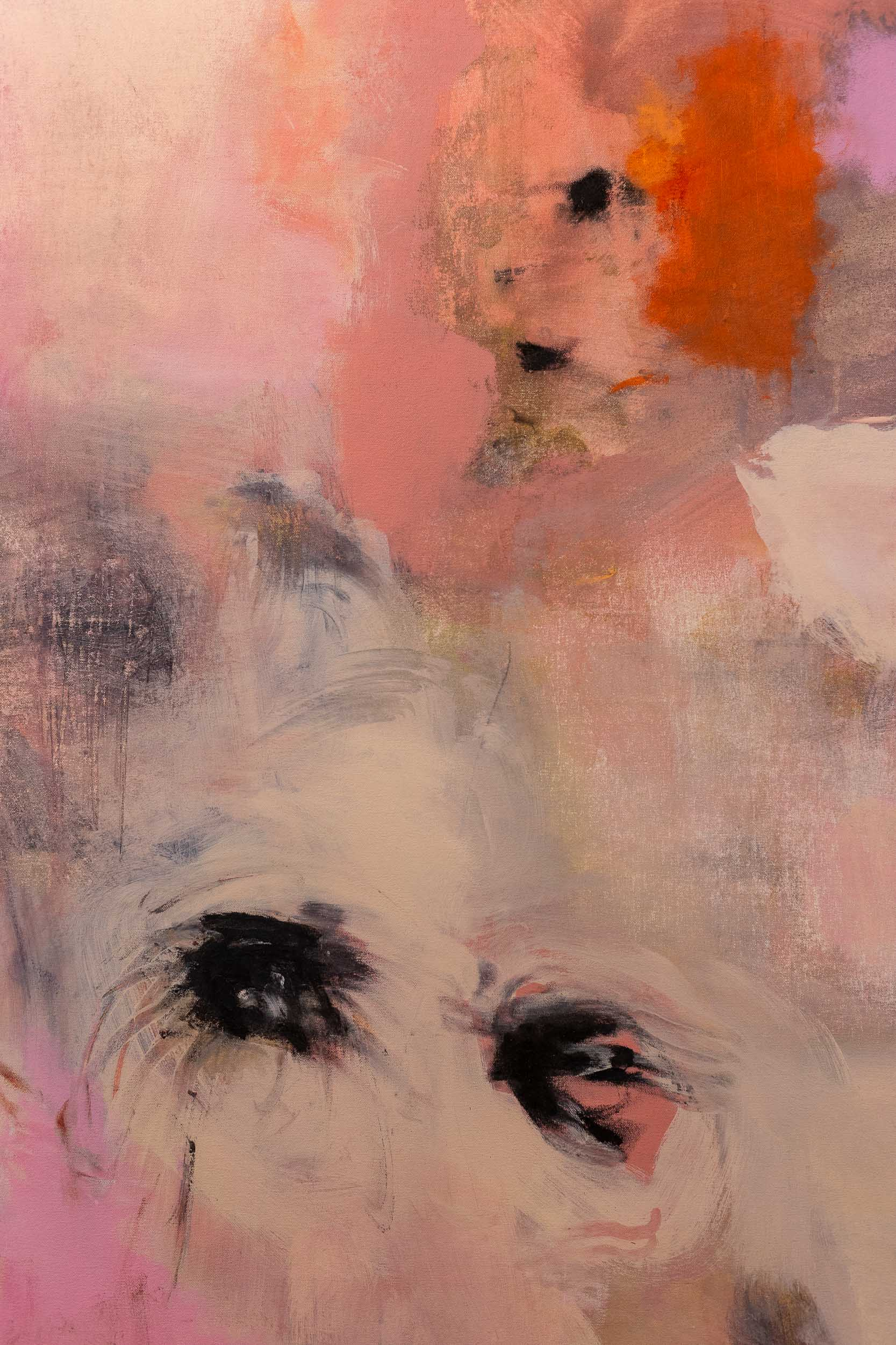Megan Rooney,  How It Is  (detail) ,  2019, acrylic, pastel and oil on canvas, 150 x 200 cm Photo: Kilian Bannwart
