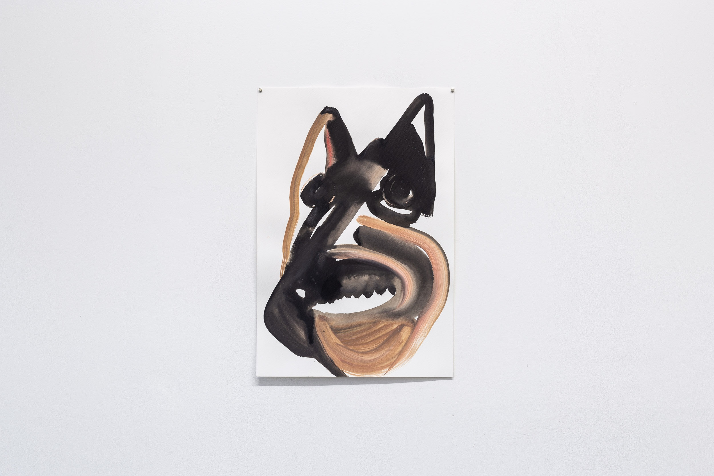 Megan Rooney,  Untitled (Old Baggy Root),  2019, acrylic, ink and pencil on paper, each 76 x 56 cm Photo: Kilian Bannwart