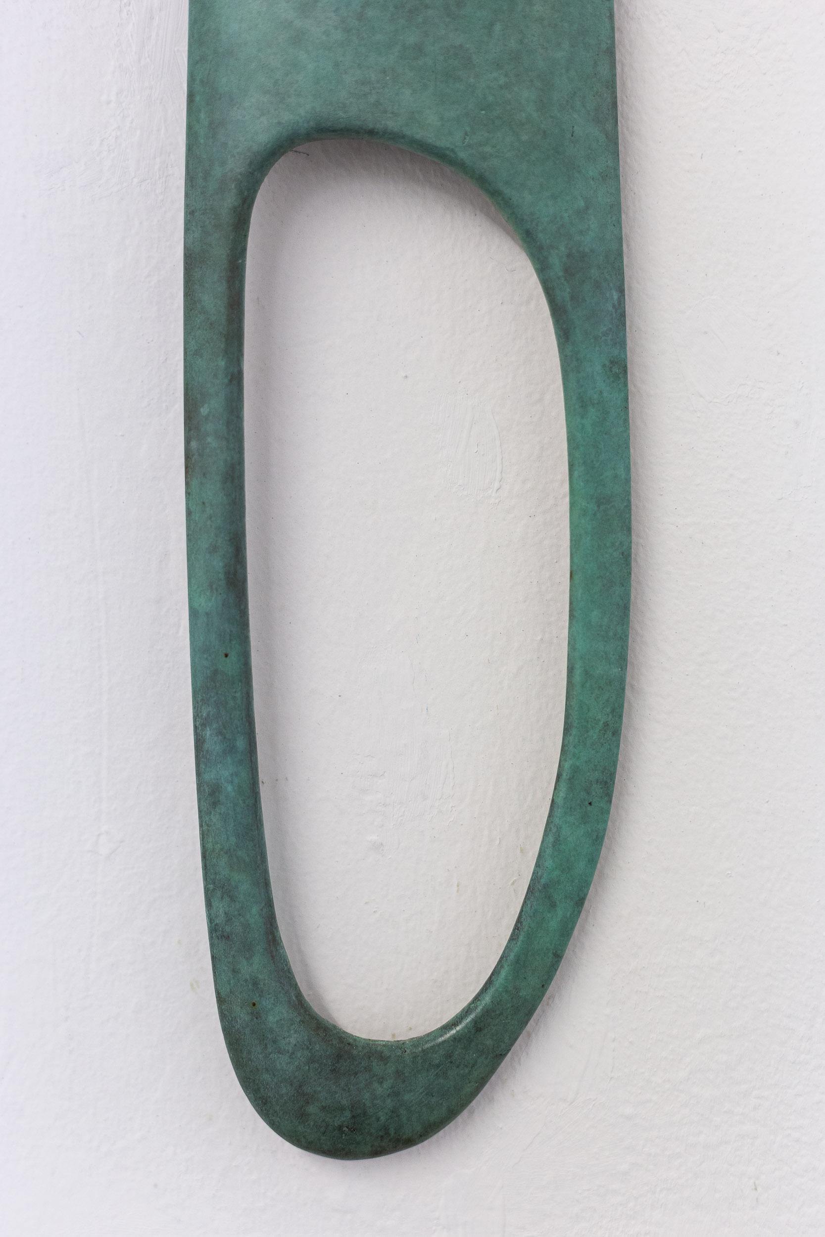 Alfredo Aceto,  Untitled LEFT  (Punctuations) (detail), 2018, cast bronze, 40 x 15 x 5 cm  Photo: Kilian Bannwart