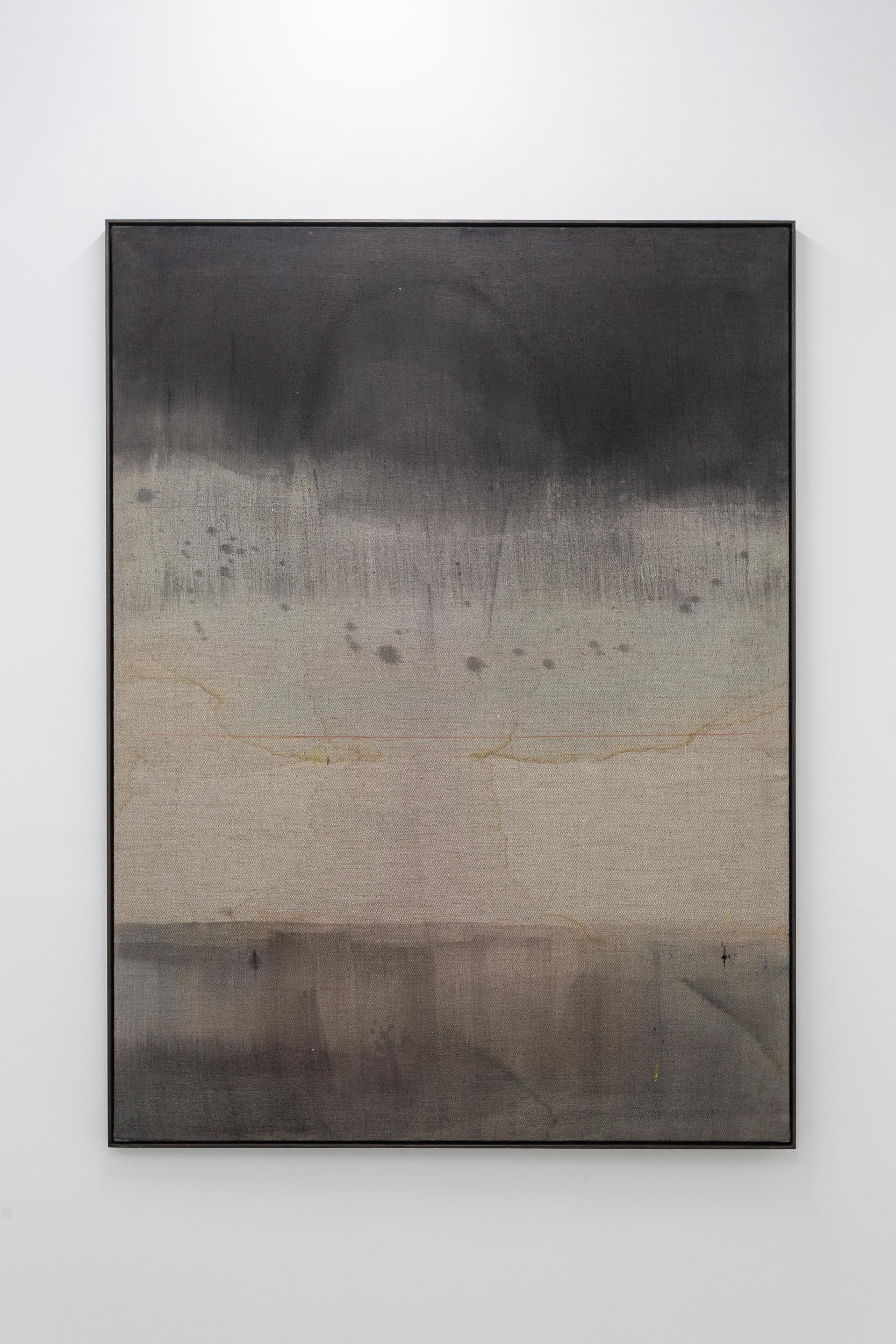 Kirstine Roepstorff,  Illustration #Simmering ,   2017, pigment, cloth, linen, 102 x 137.5 cm  Photo: Kilian Bannwart