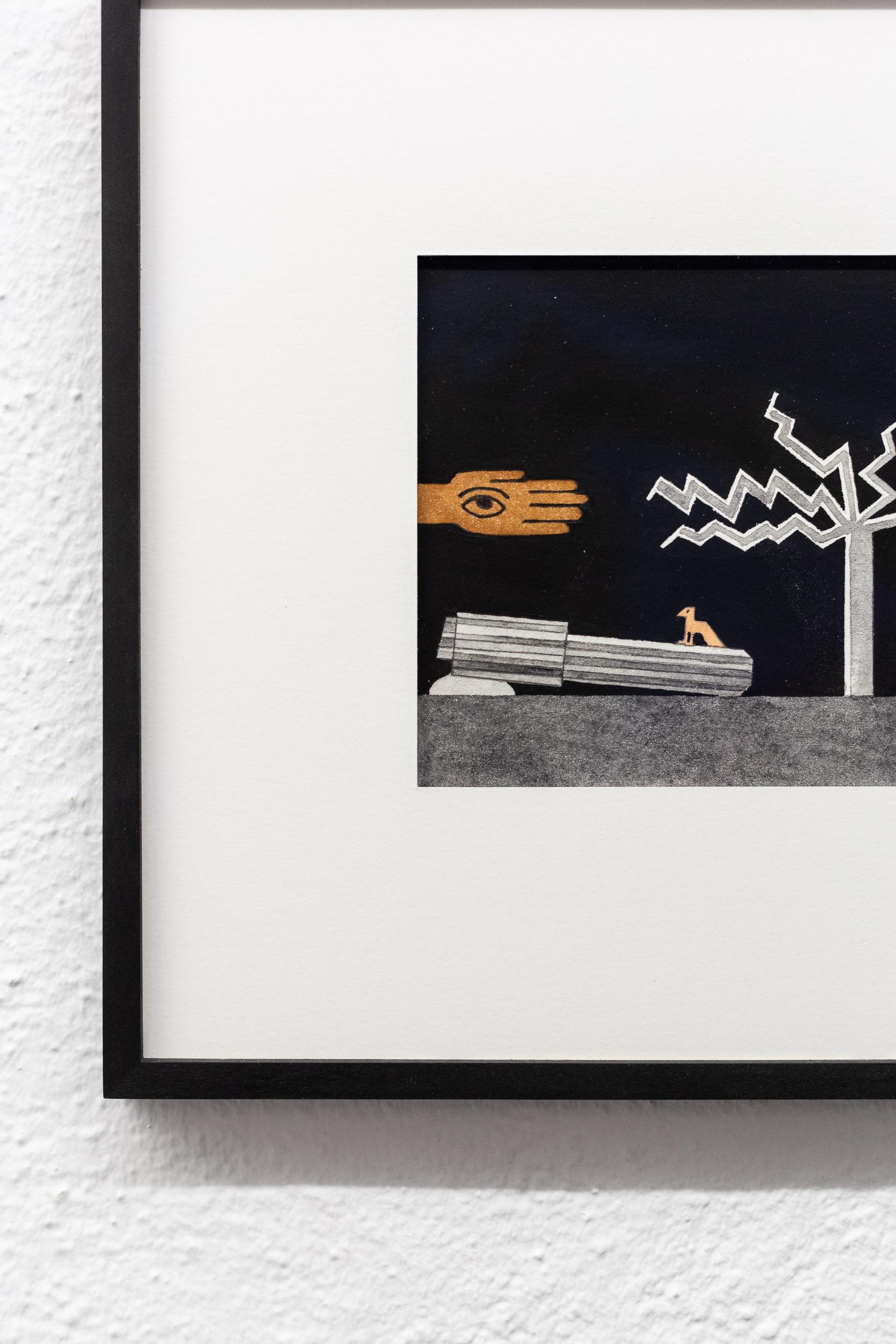 Patricia Bucher,  Untitled  (series) (detail), 2018, aquarelle and linoprint on paper, each 20.9 x 28.2 cm  Photo: Kilian Bannwart