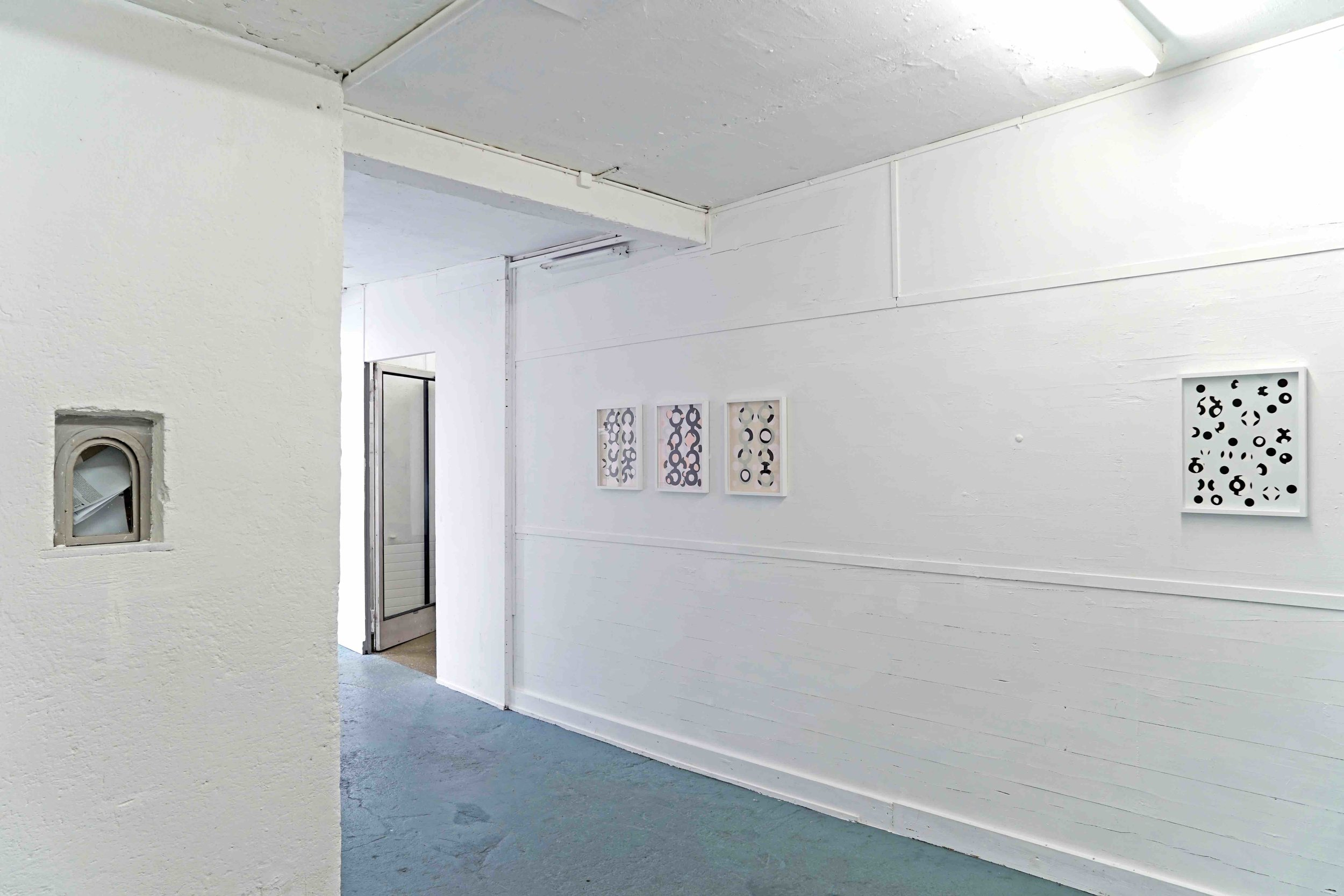 Clare Goodwin, installation view  Wall Paintings , 2019 Photo by Corrado Ferrari