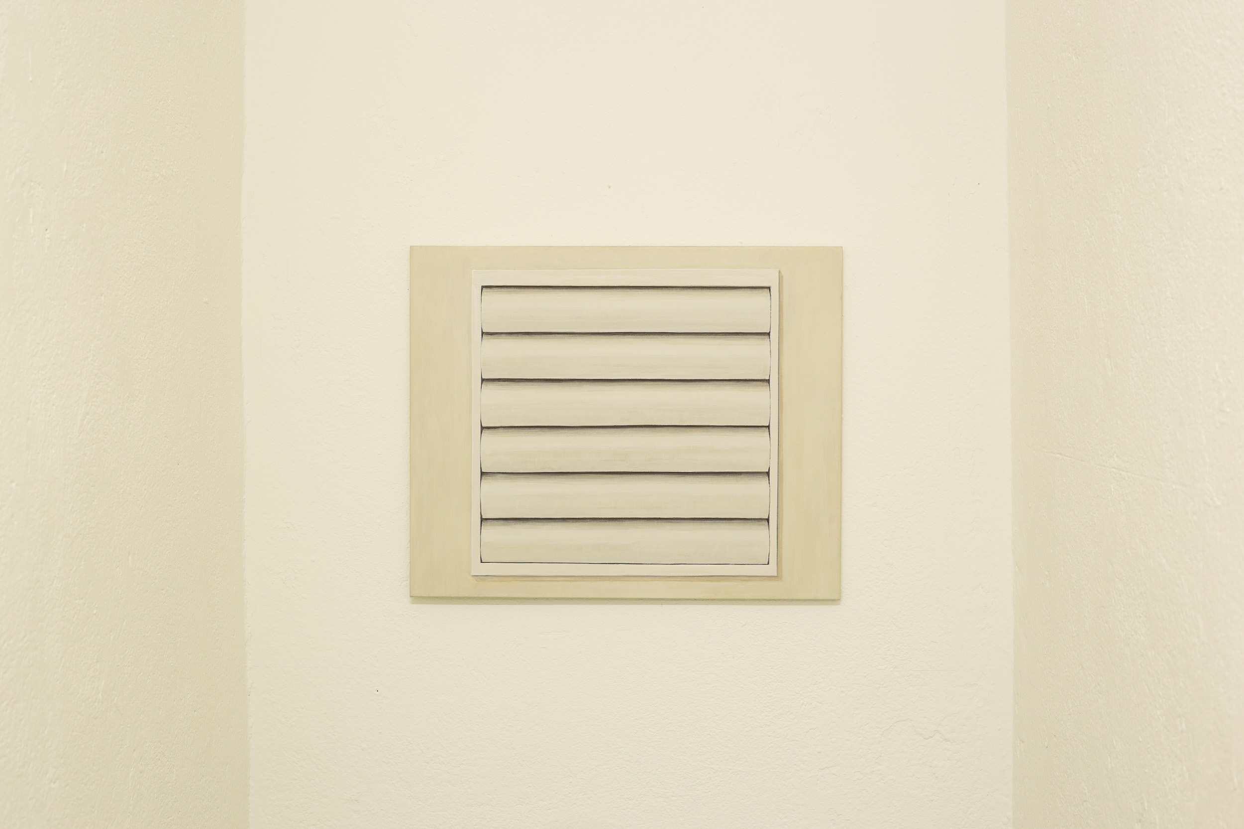 Christoph Hänsli,  Ventilation Grille , 2008, egg tempera and acrylic on canvas, 45 x 55 cm  Photo: Kilian Bannwart