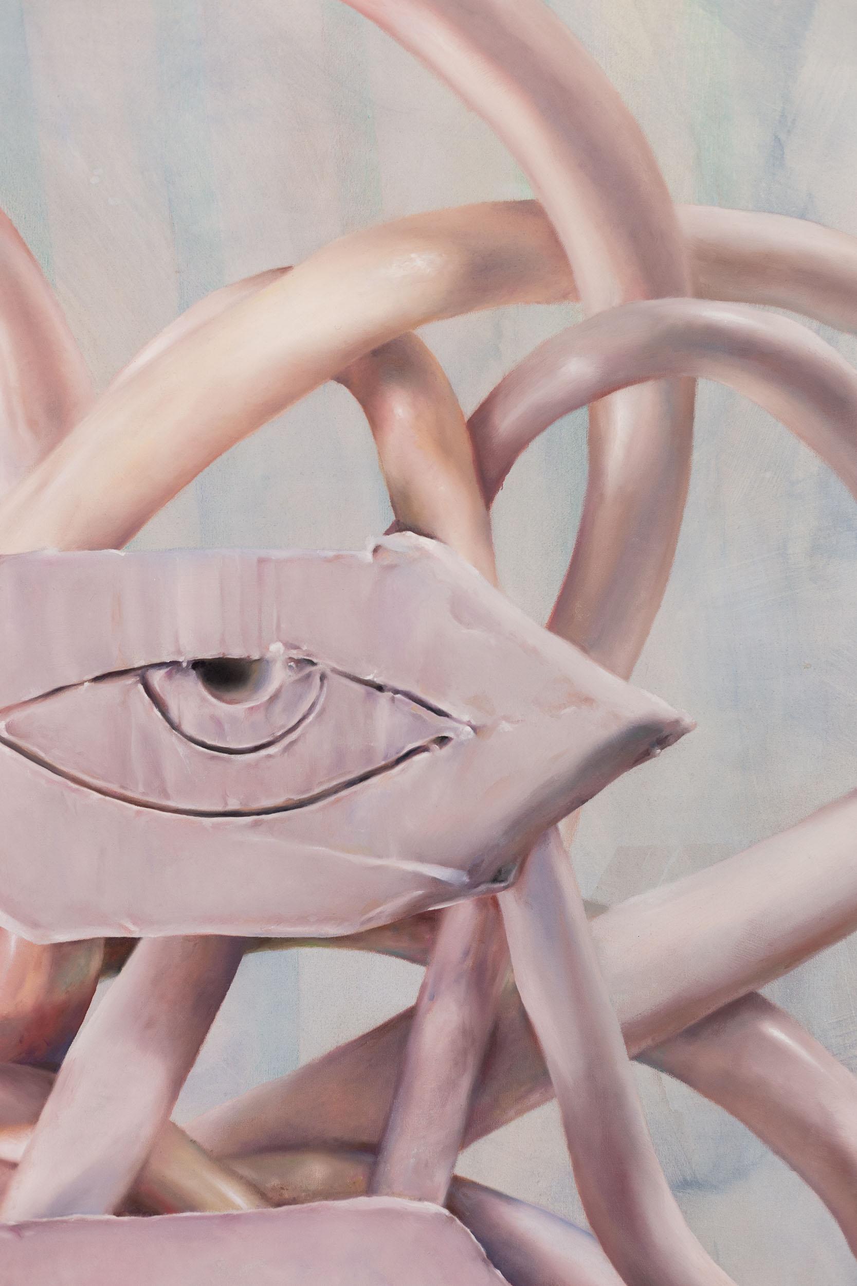 Francisco Sierra,  OogGod  (detail), 2017, oil and color pencil on canvas, 220 x 180 cm  Photo: Kilian Bannwart