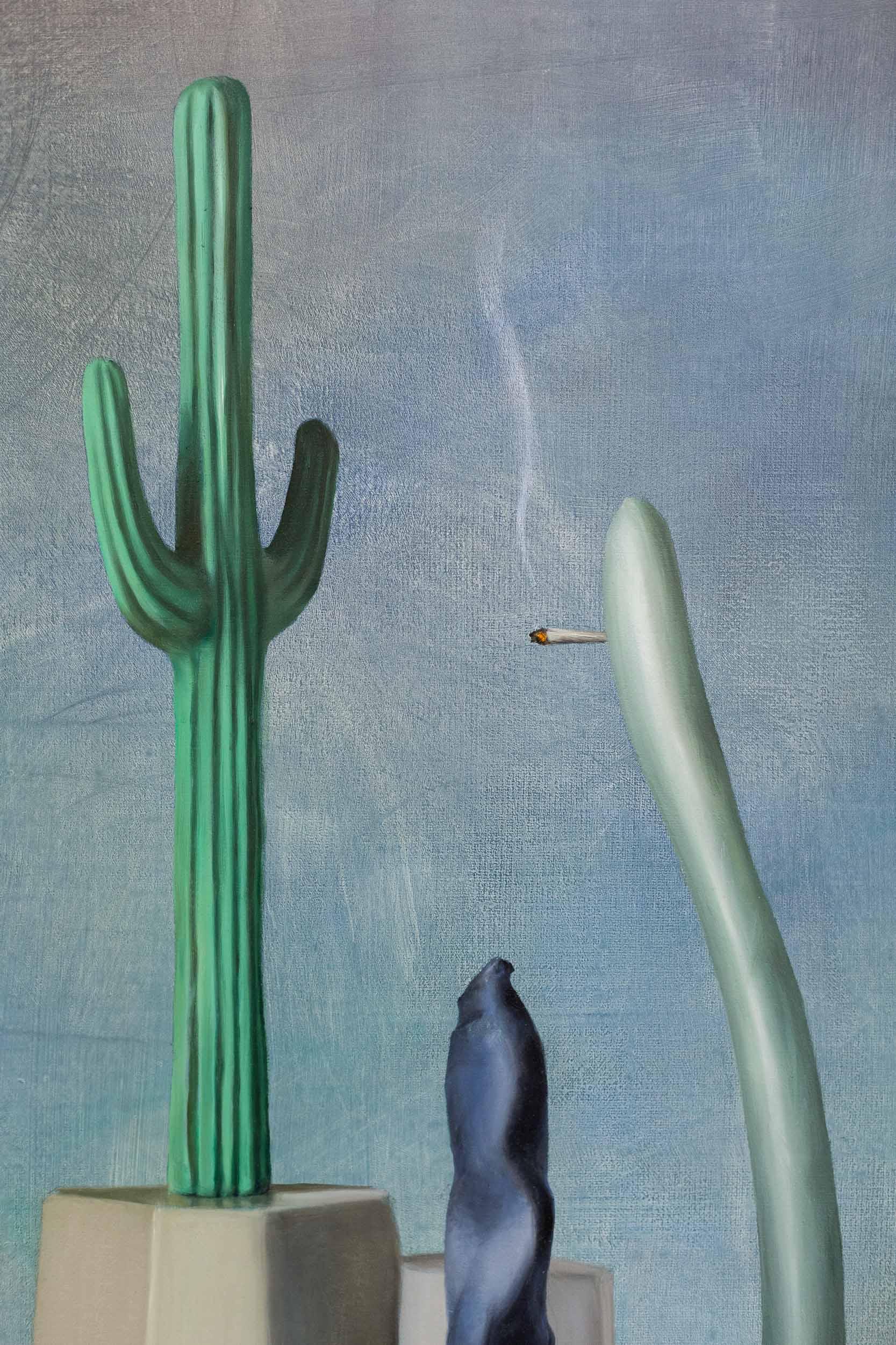 Francisco Sierra,  De Excursie  (detail), 2016, oil on canvas, 80 x 60 cm  Photo: Kilian Bannwart