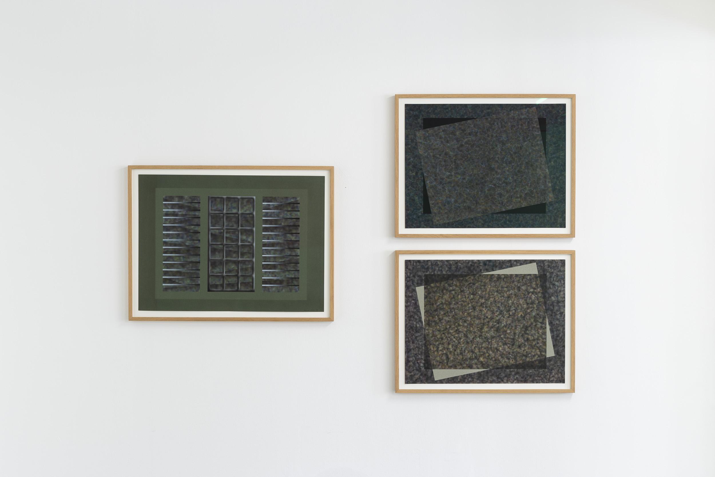 Left: Eduardo Rubén,  Untitled  (from Windows series), 1987, acrylic on paper, 75 x 55 cm  Right: Eduardo Rubén,  Untitled  (from Windows series), 1985, acrylic on paper, 75 x 55 cm  Photo: Kilian Bannwart