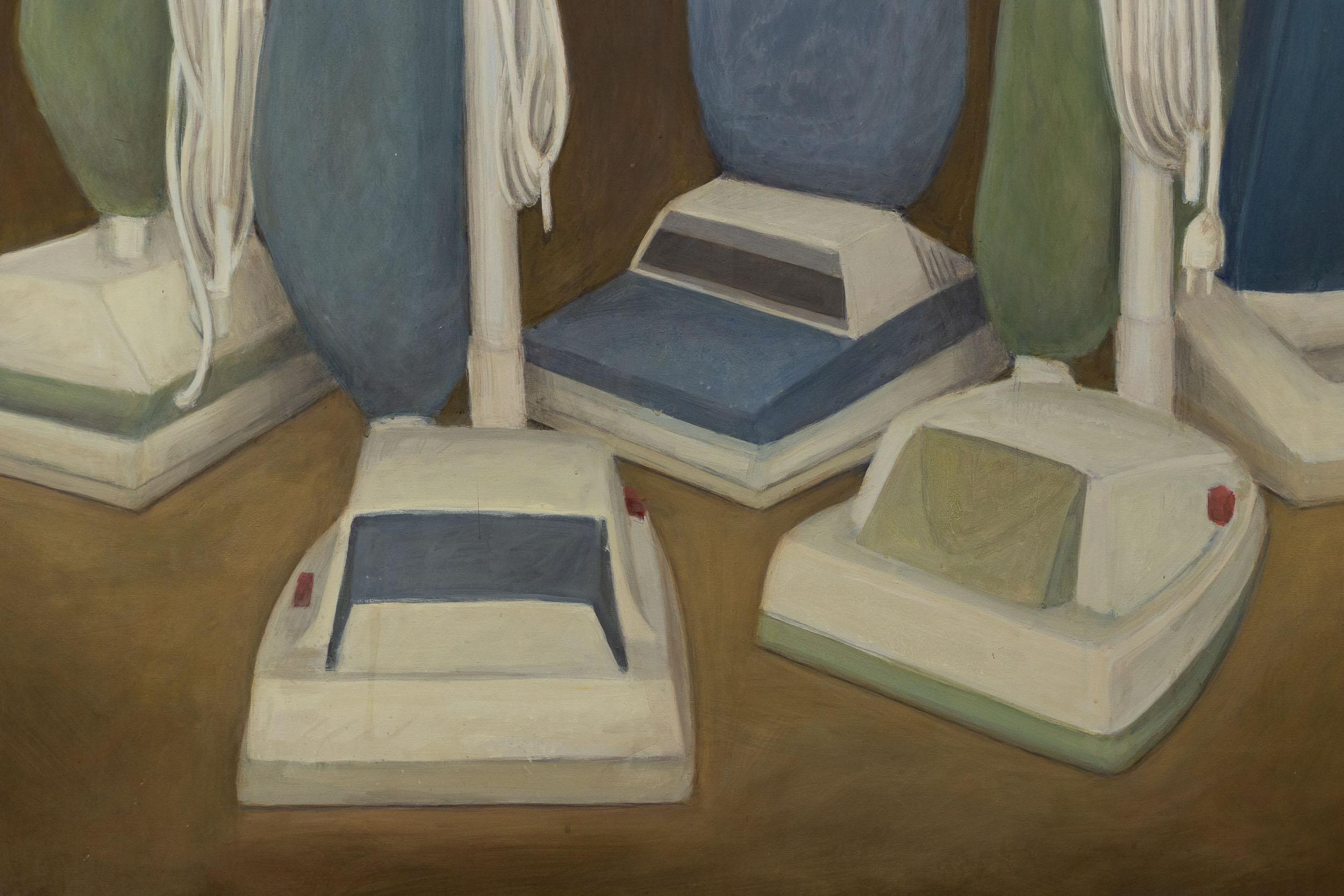 Christoph Hänsli,  The Congress  (detail), 1999, egg tempera and acrylic on canvas, 160 x 130 cm  Photo: Kilian Bannwart