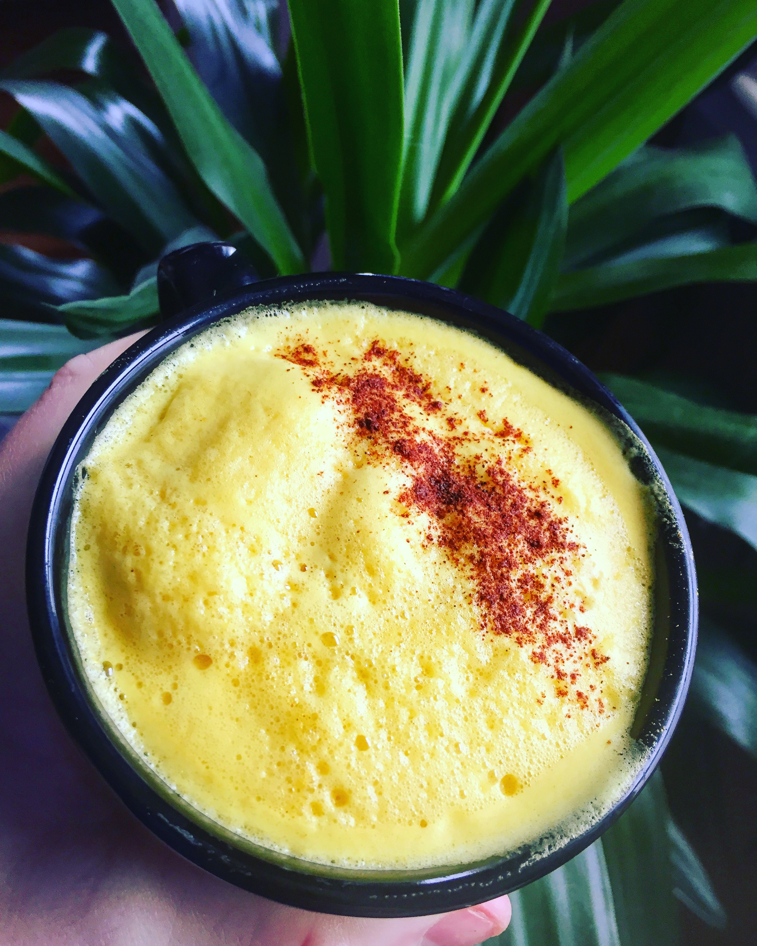 Enjoying superfoods like Golden Milk on a plant based diet.