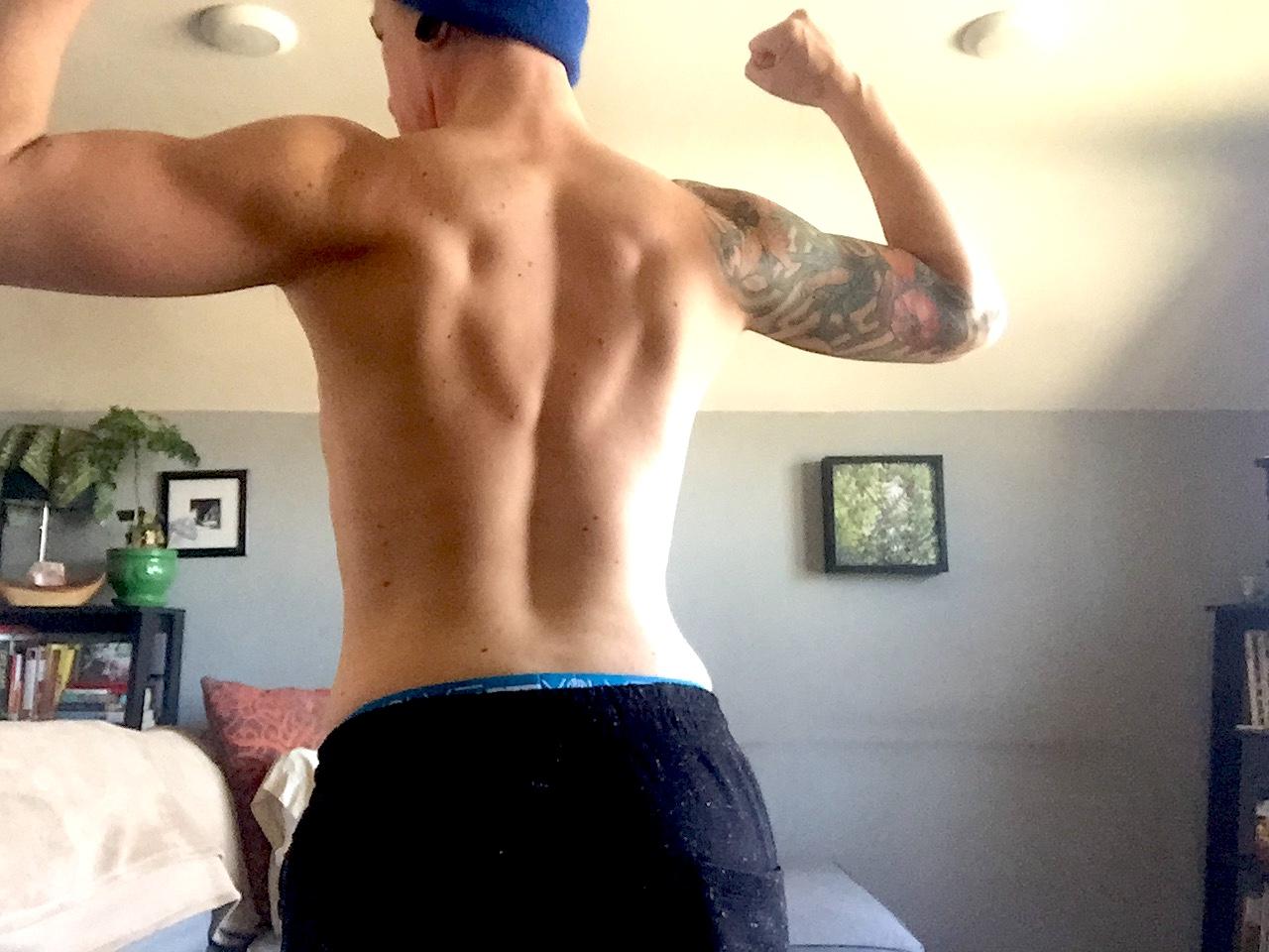 Back progress about 5 weeks in