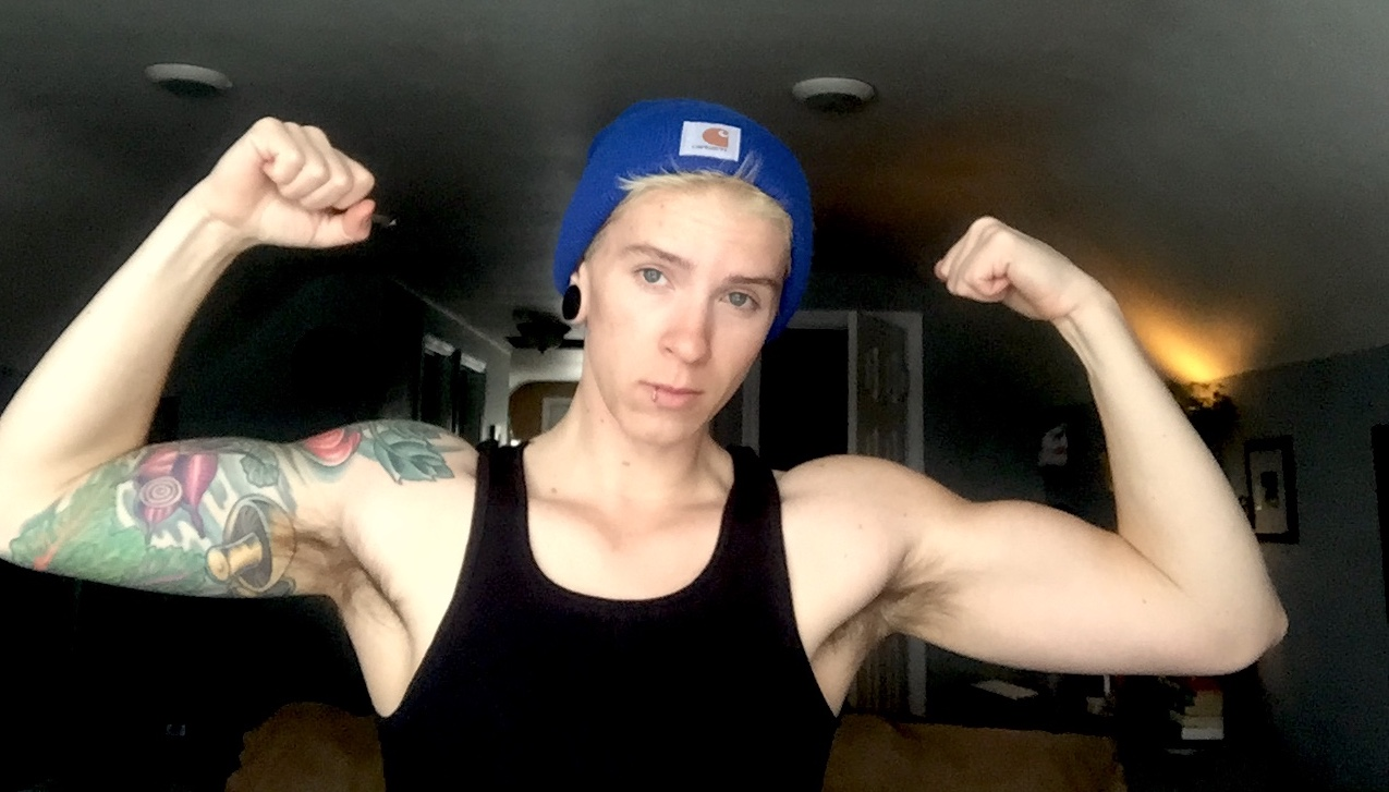 """Flexing after training allows you to see yourself at a """"pumped"""" state. Your muscles will be fuller and larger. It's an important part of the process of seeing yourself progress. Plus, it is a huge visual motivator so flex away!"""