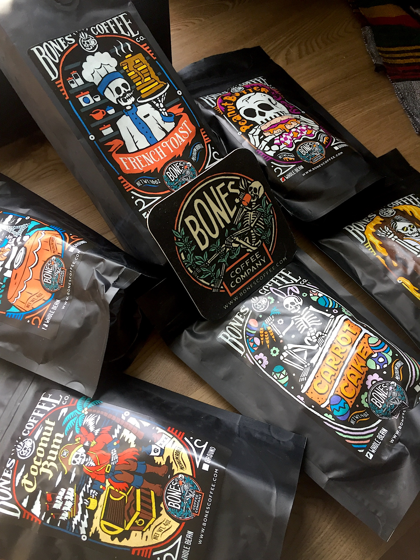 A recent haul from  Bones Coffee .