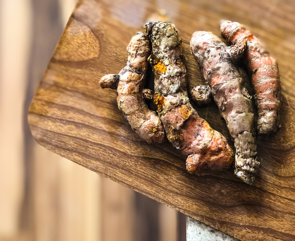Fresh Turmeric Root - Much cheaper than powdered. Look for it at Indian Food Marts or Natural Grocers