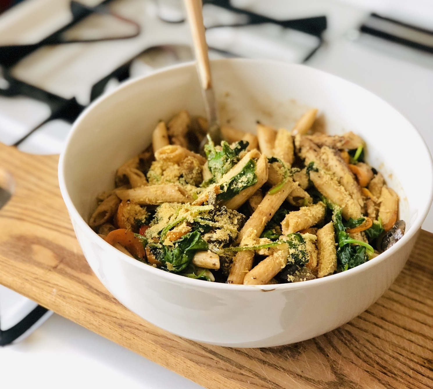 Vegan Protein Packed Balsamic Pasta