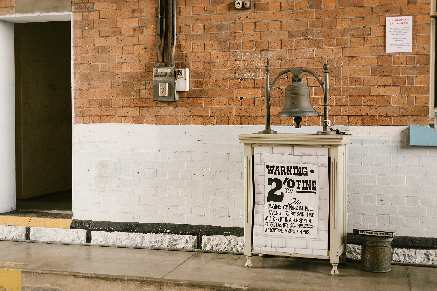 This bell served a dual purpose: a call to attention for the prisoners and an alarm clock for the local neighbourhood.