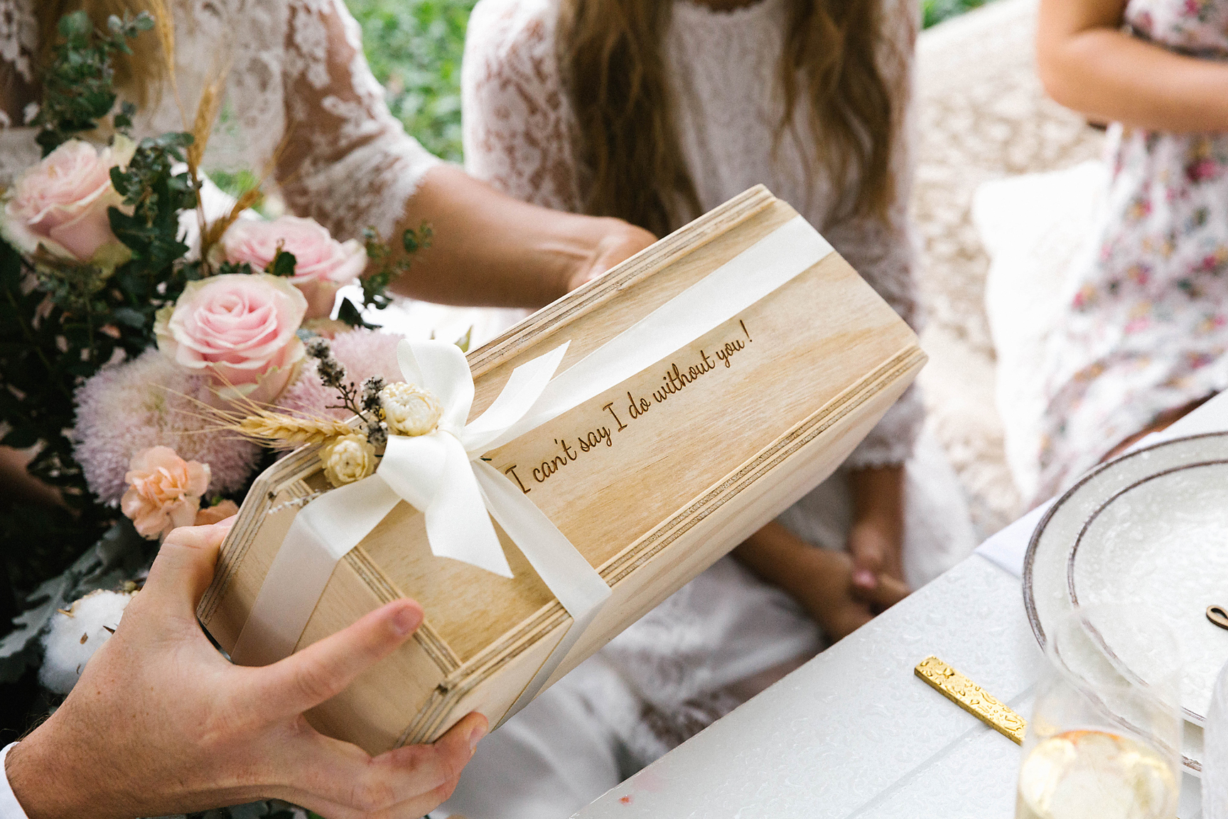 Gift box by The Bridal Box Co. Photography by Poppy & Sage Photography.