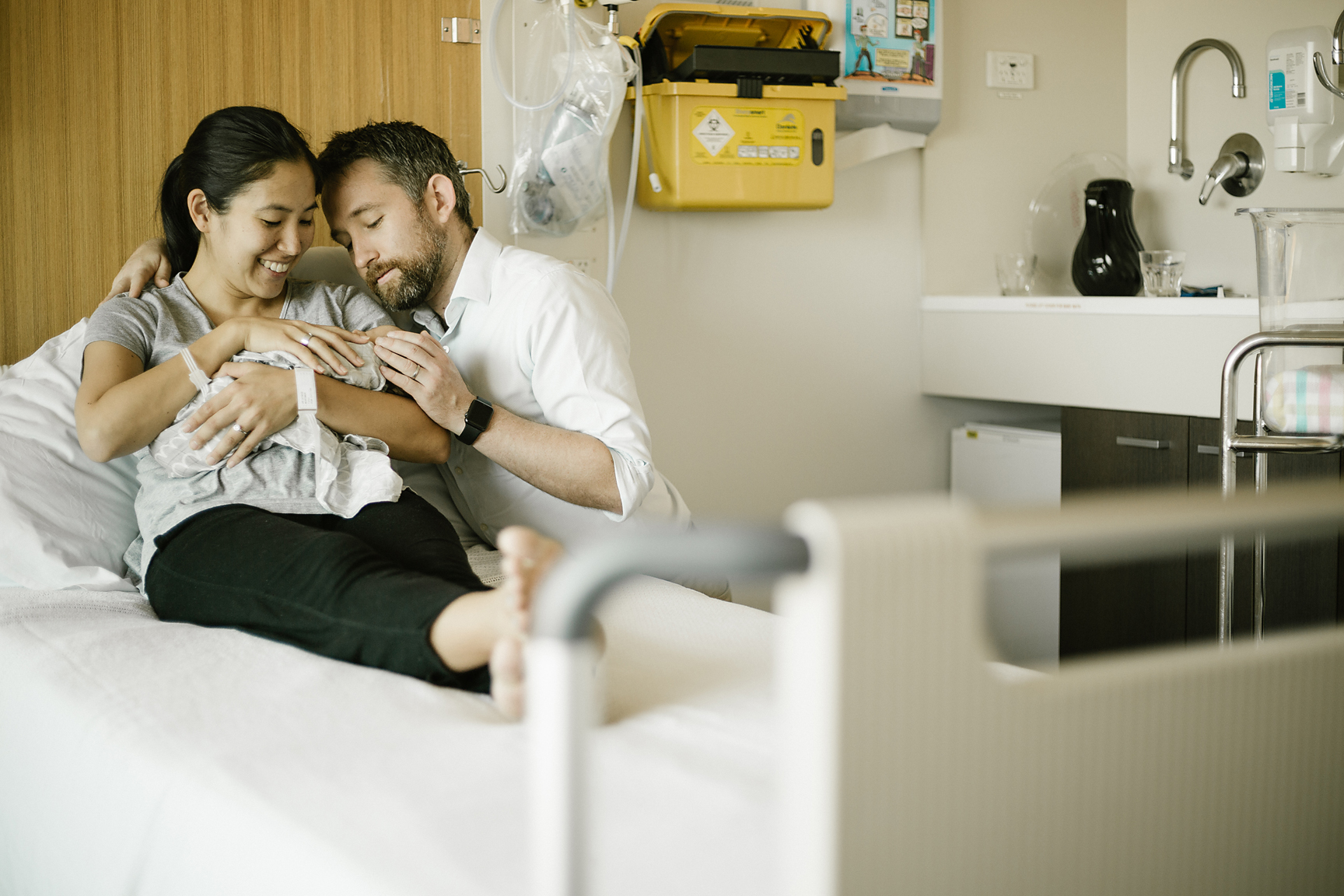In hospital, too; not usually known for the best photography-friendly lighting. (Image by Poppy & Sage Photography.)