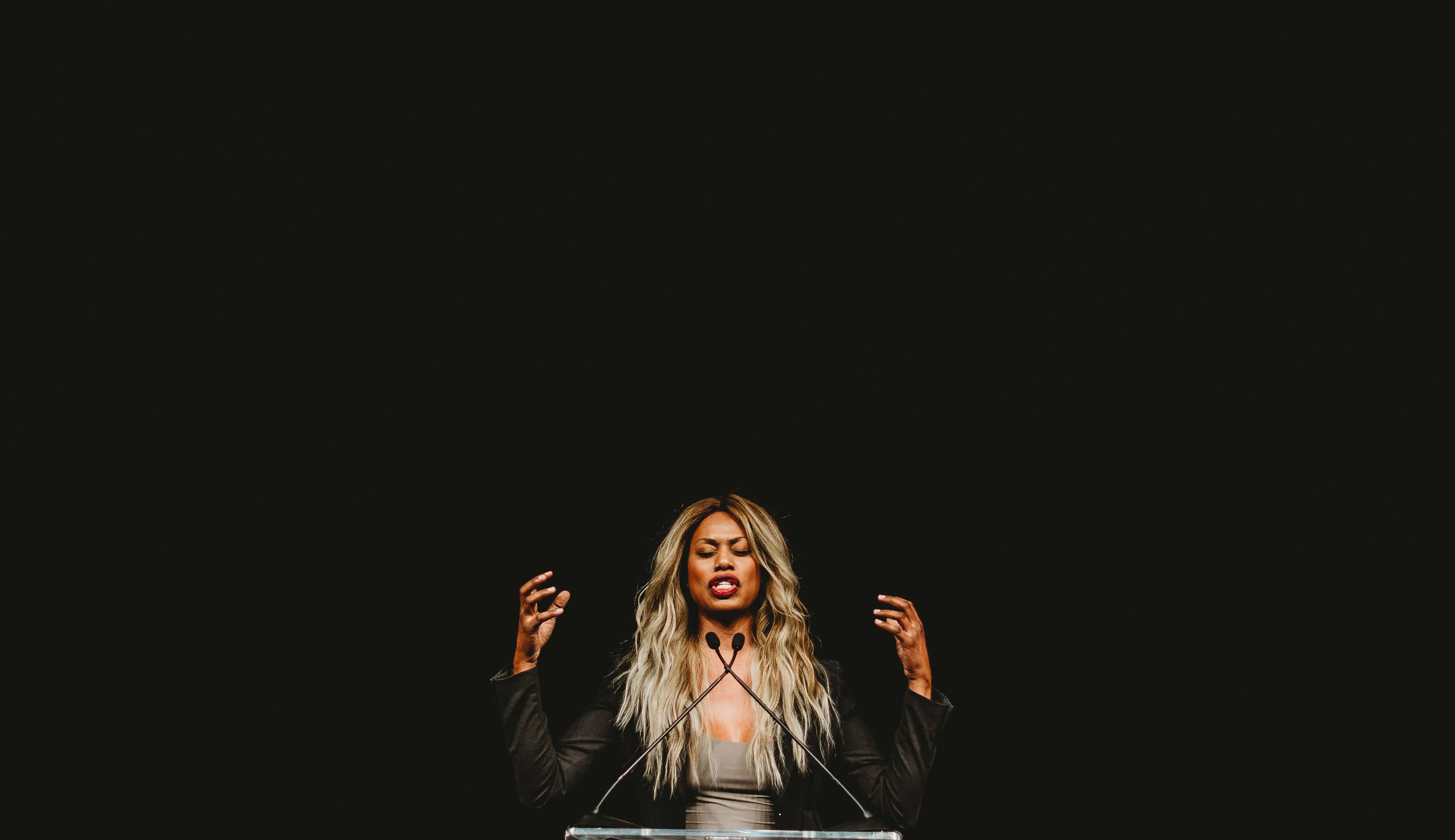"Jenn tells the story behind this one: ""I took this photo of  Laverne Cox  in Fayetteville (20 minutes from Bentonville). Her lecture was part of a series put on by the  University of Arkansas . They bring in amazing speakers like her periodically"". (  Photography by Jenn Terrell  )"