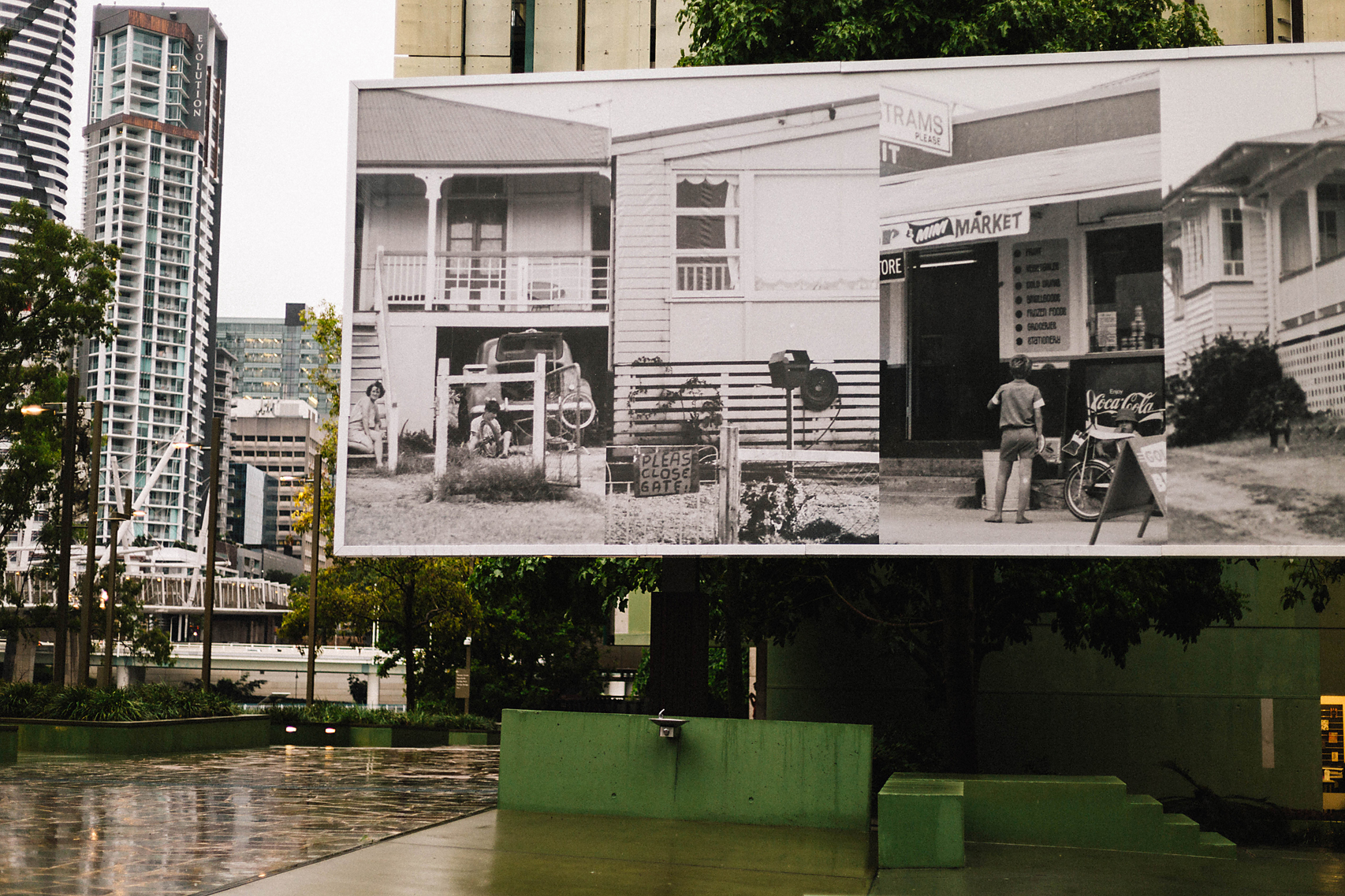 "Advertising for "" A Suburban Obsession "" at the  State Library of Queensland  ( Poppy & Sage Photography )"