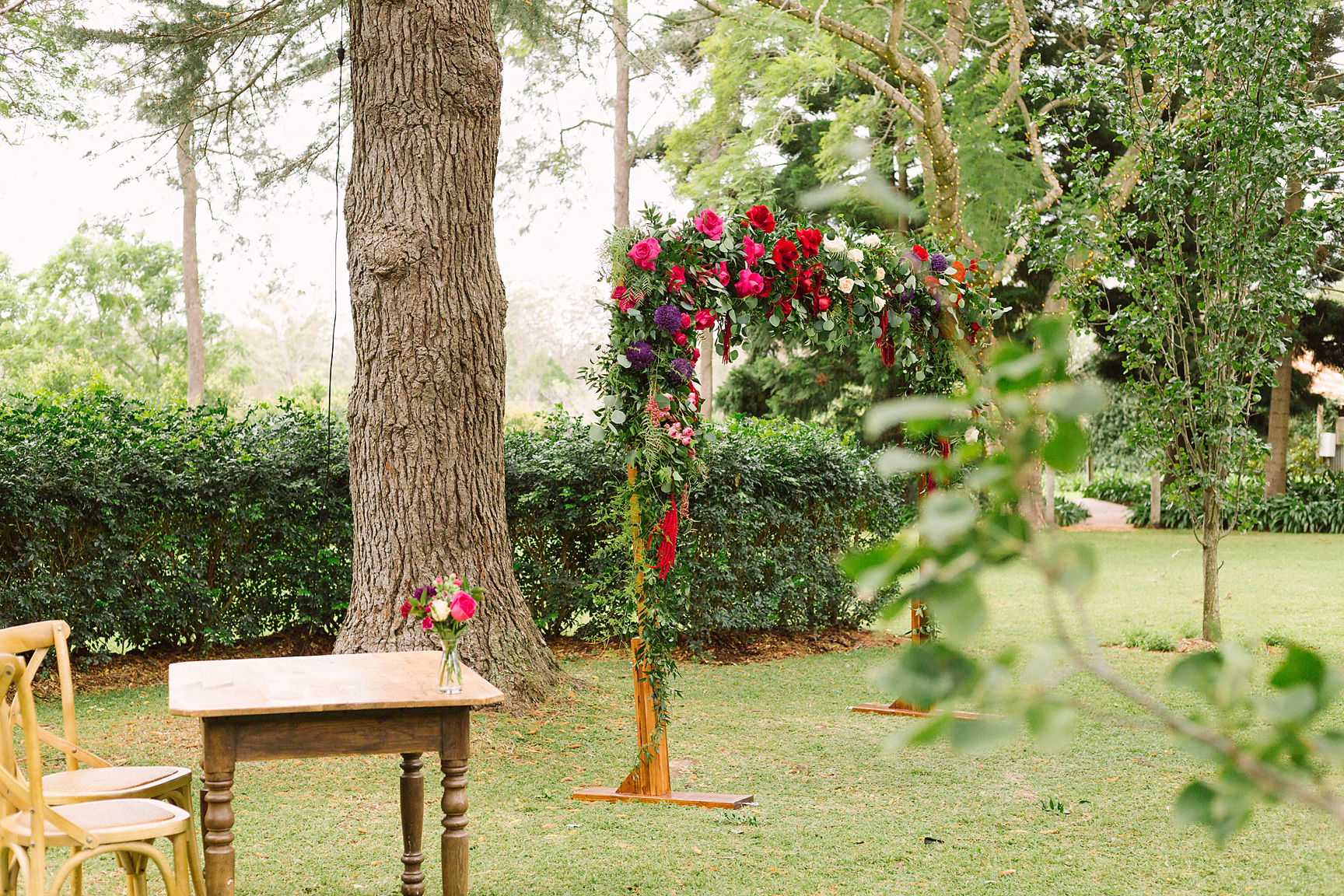 We love an enchanting outdoor wedding.. (Image by  Poppy & Sage Photography .)