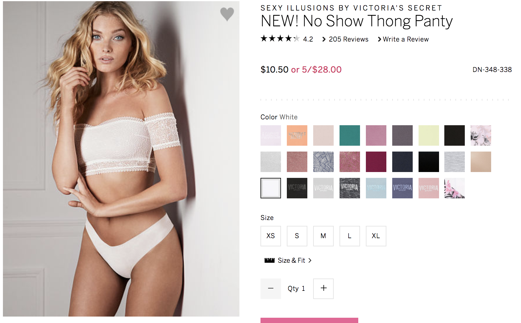 I only purchase these in white or nude. I use them for when I wear light color clothing or clothing where I really need zero panty lines.