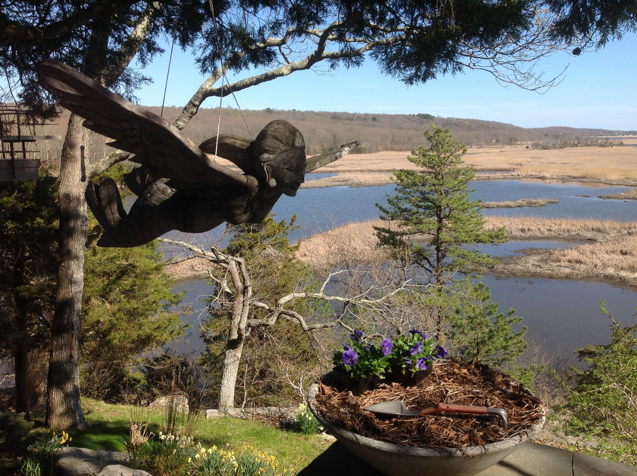 The view from our Lyme hosts' home.