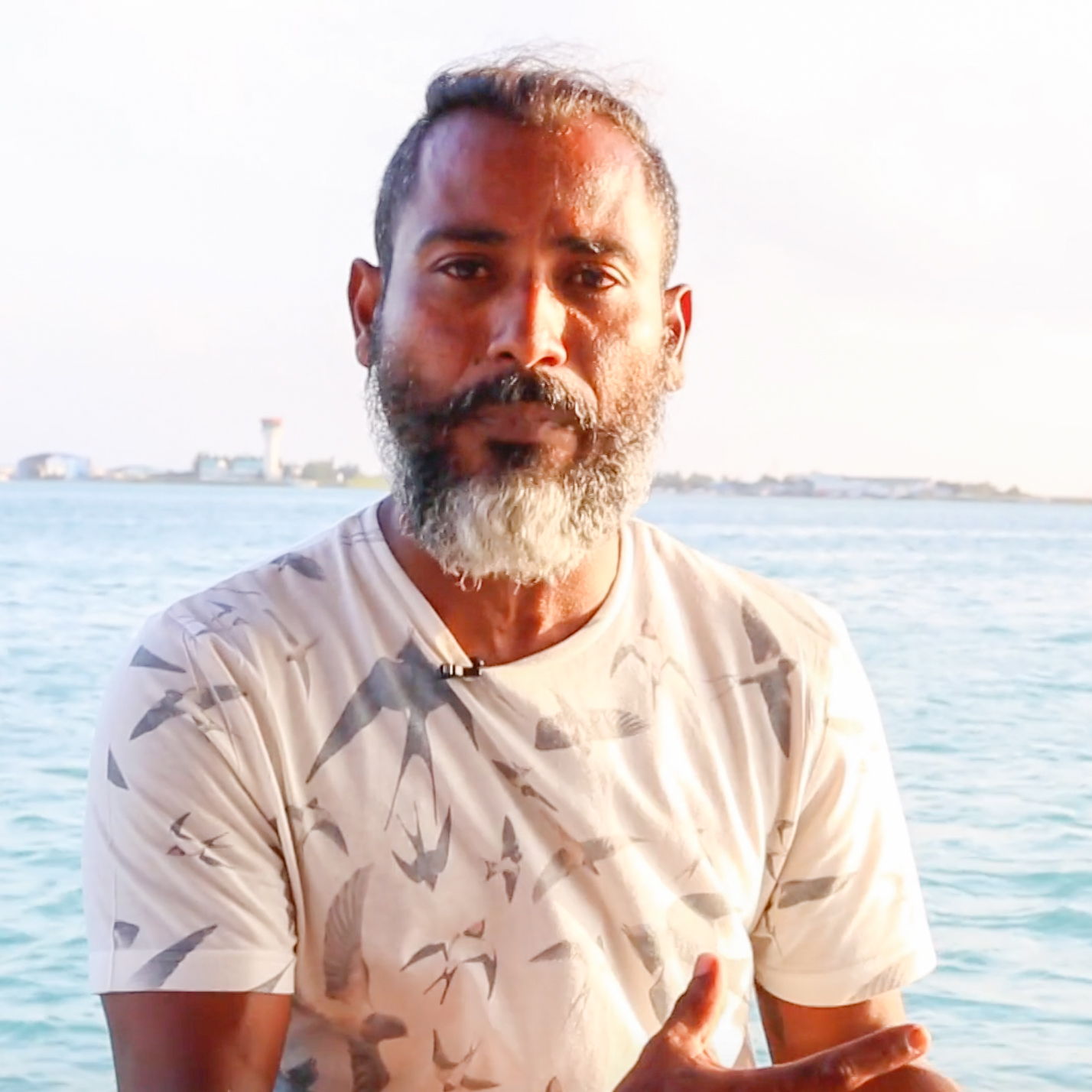 Hassan (Beachey) is one of our Maldivian partners who joined the Hydrous expeditions 2015 and 2016 as a Maldivian fish expert. He is a dive instructor by profession and has been diving in the Maldives for 25 years. His curiosity for the natural environment drives his passion for the conservation of the the Maldivian marine life, flora and fauna. He uses inspiration from these environments in his artwork and designs.