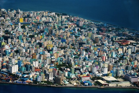Malé, the capital of the Republic of Maldives and one of the most densely populated cities in the world.