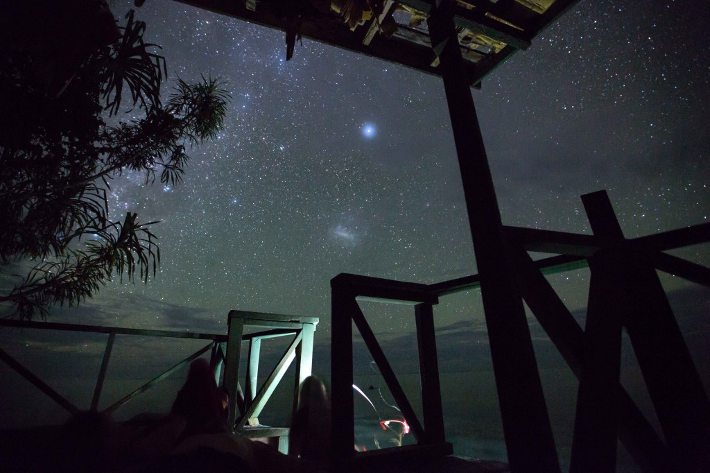 stars above the dock