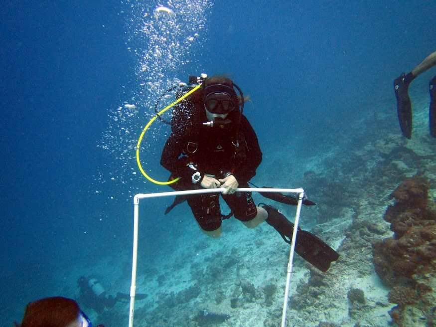 One of the most experienced divers in our group, Cecilia from Autodesk.