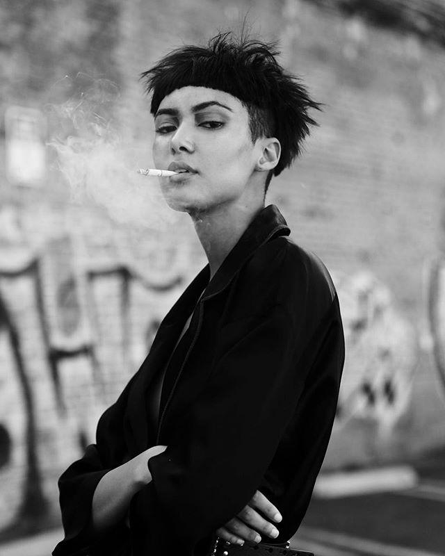 Looks kill more than cigarettes 💄 #facebypua 👤 @noturcrush 💇♀️ @sylvia_studios_ 👔 @kaitlynvitug @imahill 📸 @tanyaravichandran