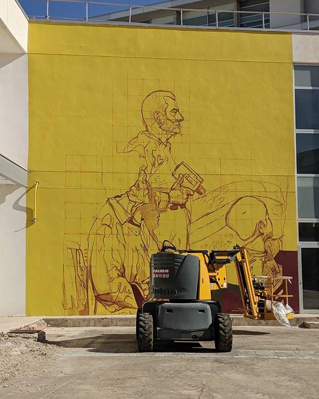 Participando en @polinizados.  #marie_ajras #streetart #mural #polinizados #valencia #muralart