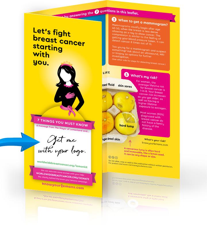 Know Your Lemons Custom Breast Cancer Leaflet