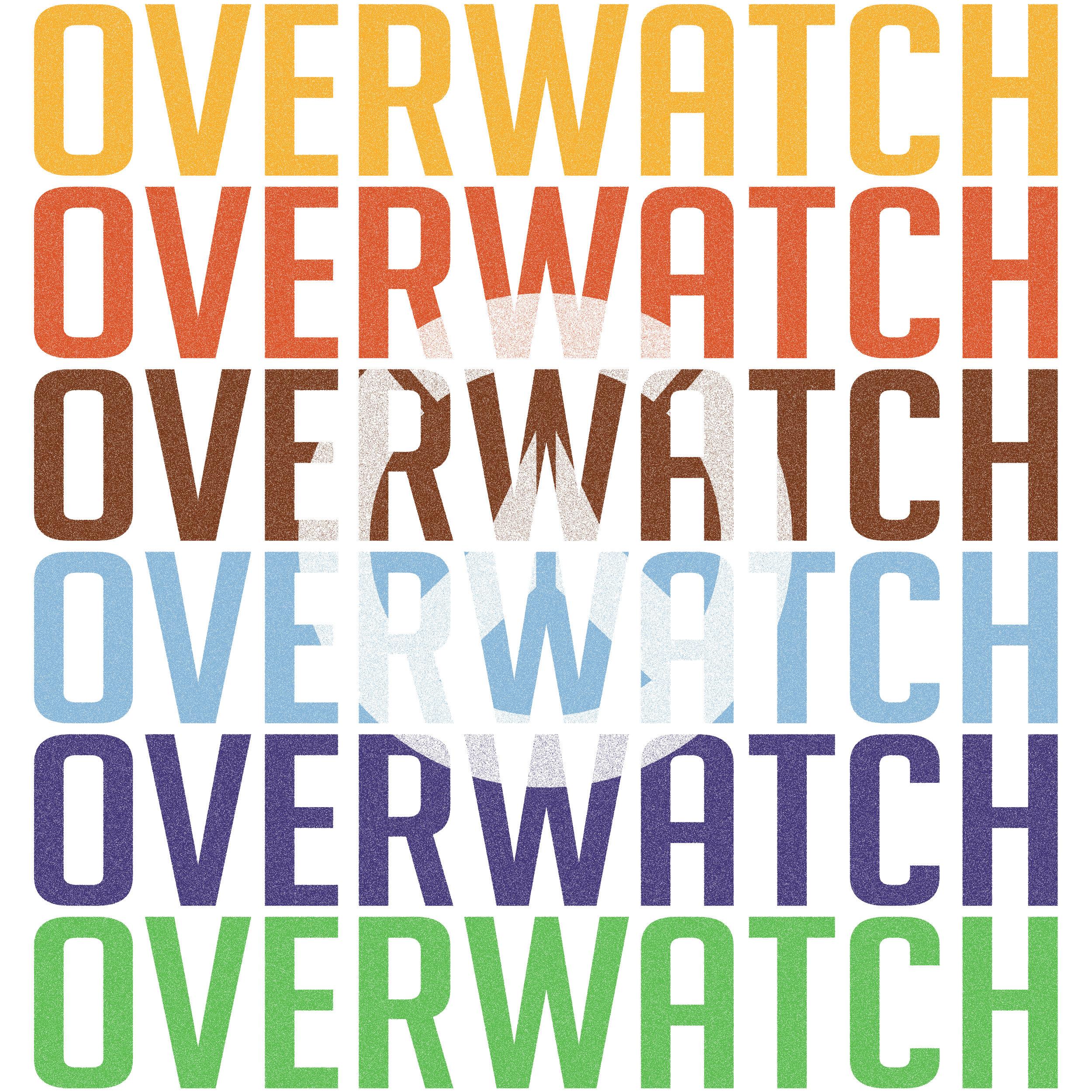 Overwatch Typographic Postres