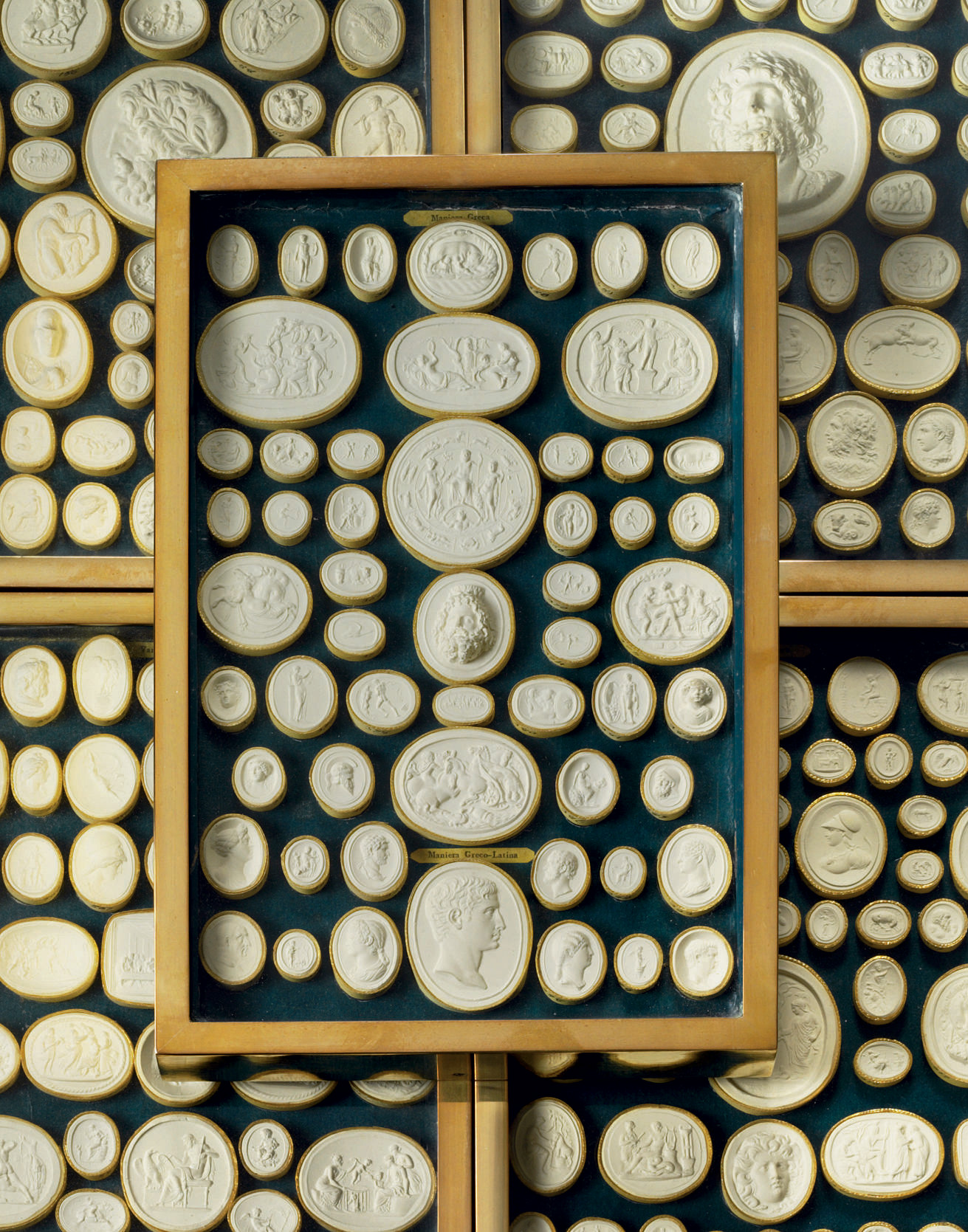 A set of 15 Italian plaster intaglio impressions from the first half of the 19th century sold for over $13,000 through    Christie's.