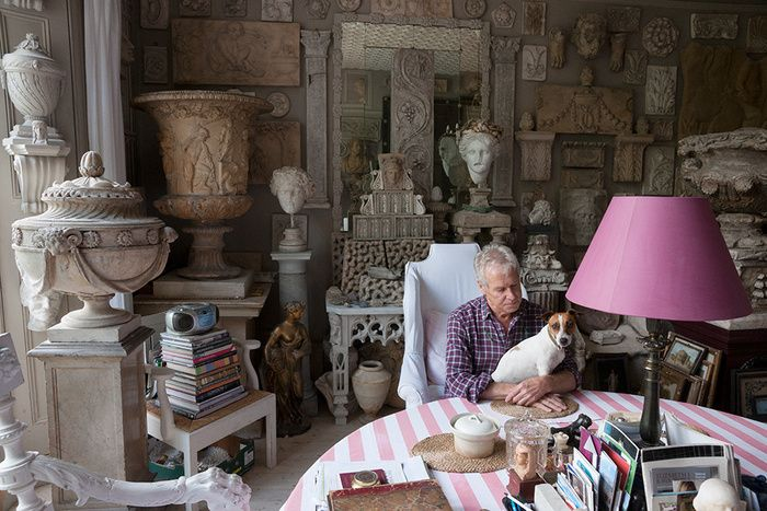 """""""Master Plaster Caster"""" Peter Hone at home in London's Notting Hill. via    Christie's"""