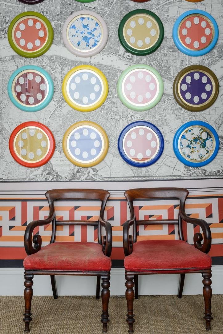 A fresh and creative way to display intalgios - via    Pentreath & Hall