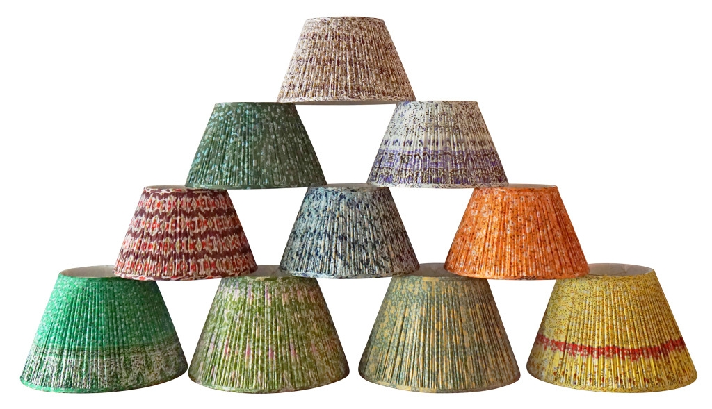 Okay, these are totally out of budget. But they exist and they're beautiful so here you go: Vintage Sari Lampshades,    KRB NYC, $500 each    (ouch!)