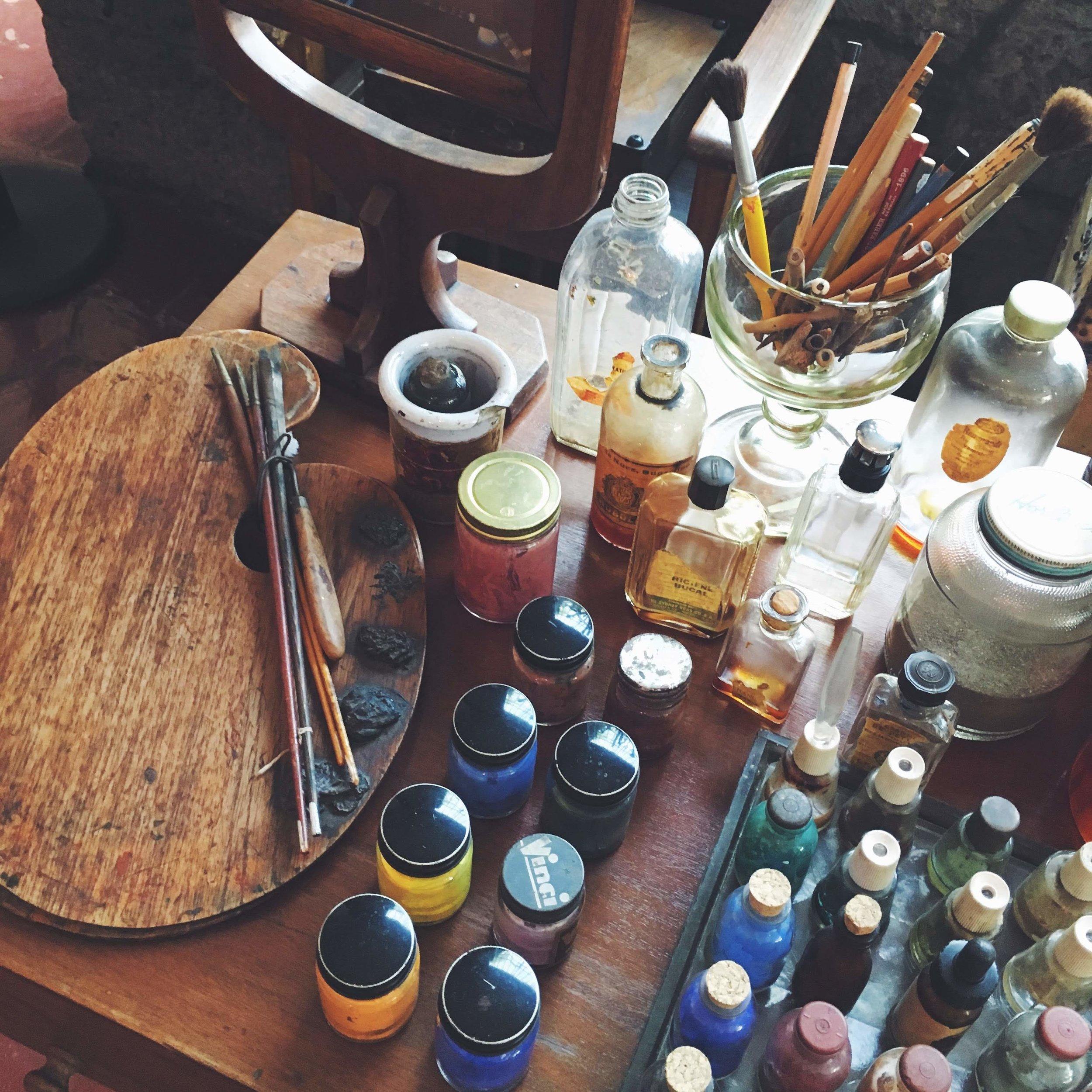 Frida's studio