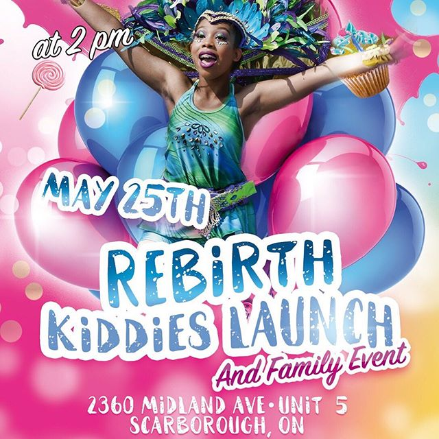 The children are the future of OUR culture . On Saturday May 25th 📅 . We do it for the kids 🍭🍦🍩 . Fantazia Carnival Presents . Rebirth 💫 The Kiddies Launch 🤸🏽♀️ . 2360 Midland Ave unit 5 Scarborough . Or DM for more info 🎡 . . #FantaziaCarnival #TorontoCarnival #FantaziaTurns10 #GetInYuhSection #ToFlourishIsToGrow #BandLaunch #SomethingFun #Carnival #Soca #Music #FamilyEvent #ChildrenAreOurFuture #Caribana #Marketing #Caribbean #CultureFestival #Caribbean #Kiddies #Models #Party #KiddiesLaunch #Toronto #Trinidad #ComePlayWithUs #FollowSoca #TeamSoca #WestIndies #RespectTheMas #International #Travel #registration